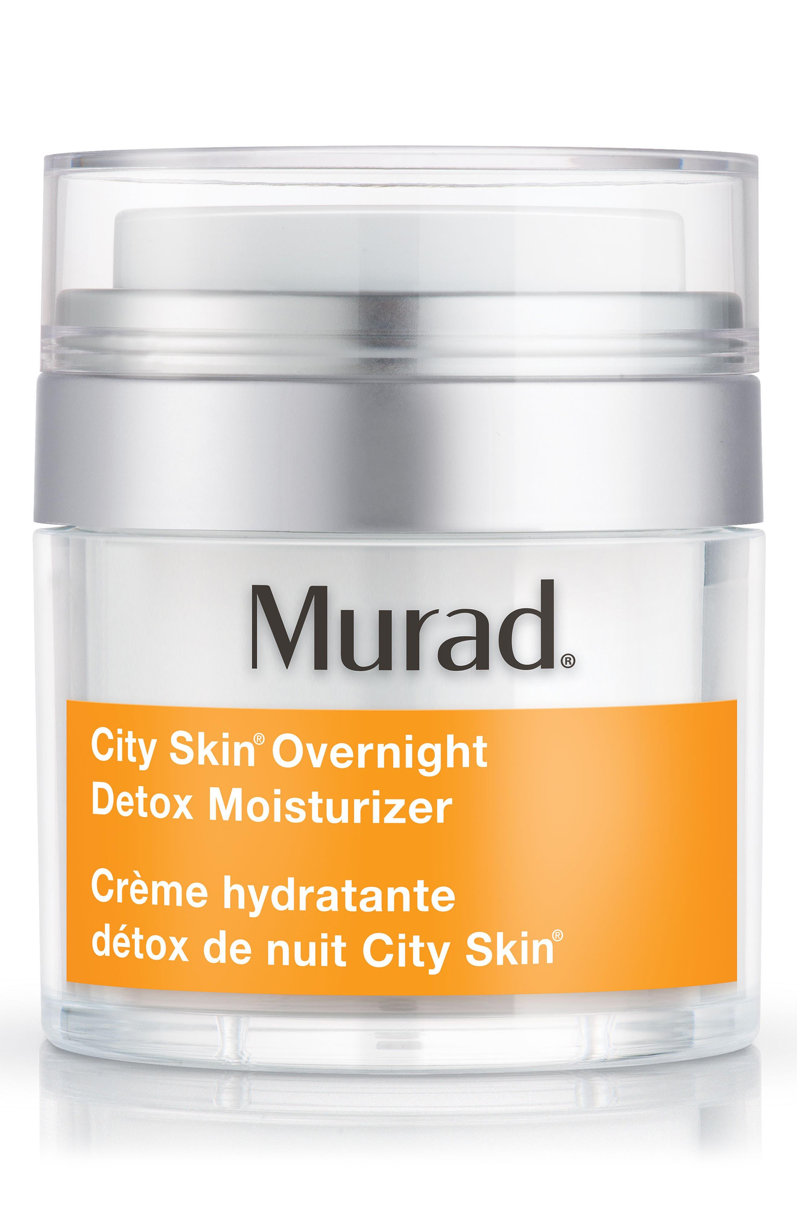 Environmental Shield City Skin<sup>®</sup> Overnight Detox Moisturizer,                             Main thumbnail 1, color,                             No Color