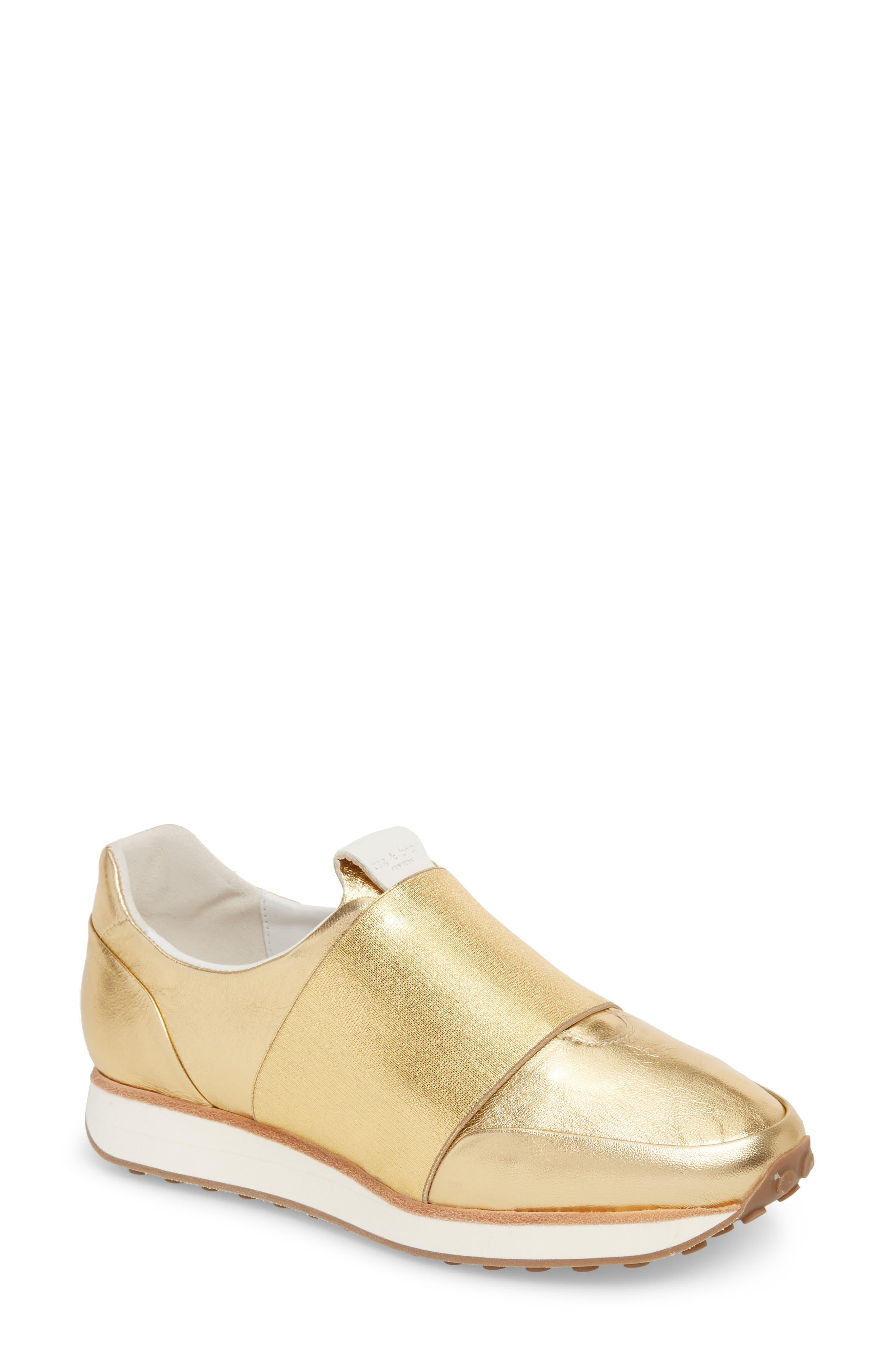 Dylan Sneaker,                         Main,                         color, Gold