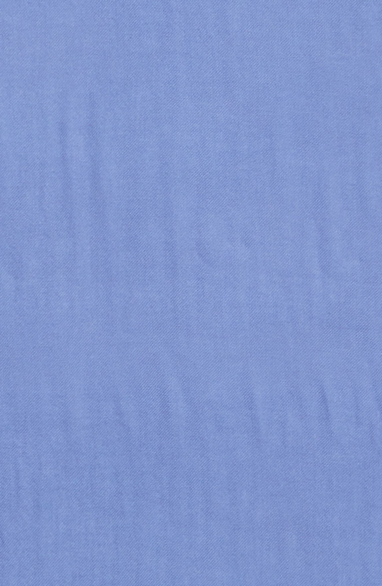 Tissue Weight Wool &Cashmere Scarf,                             Alternate thumbnail 4, color,                             Blue Denim