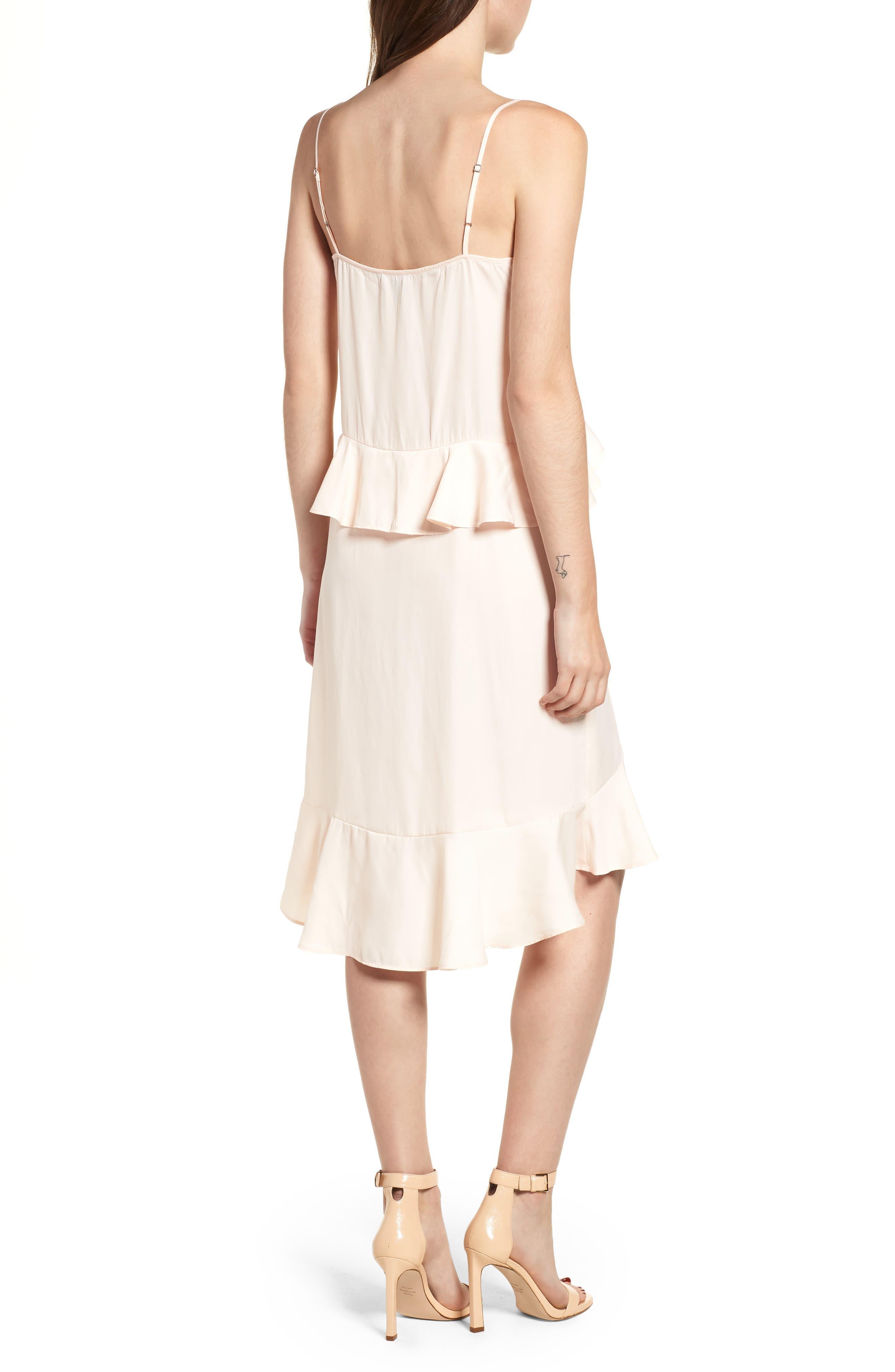 Lace Trim Dress,                             Alternate thumbnail 2, color,                             Pink Scallop