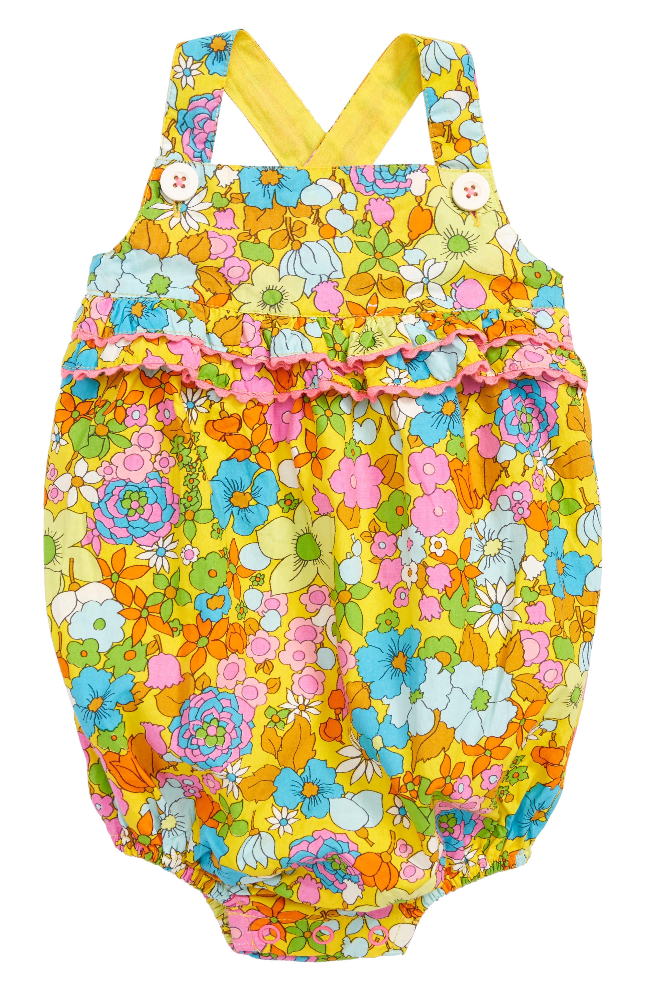 Bubble Bodysuit,                             Main thumbnail 1, color,                             Multi Retro Floral