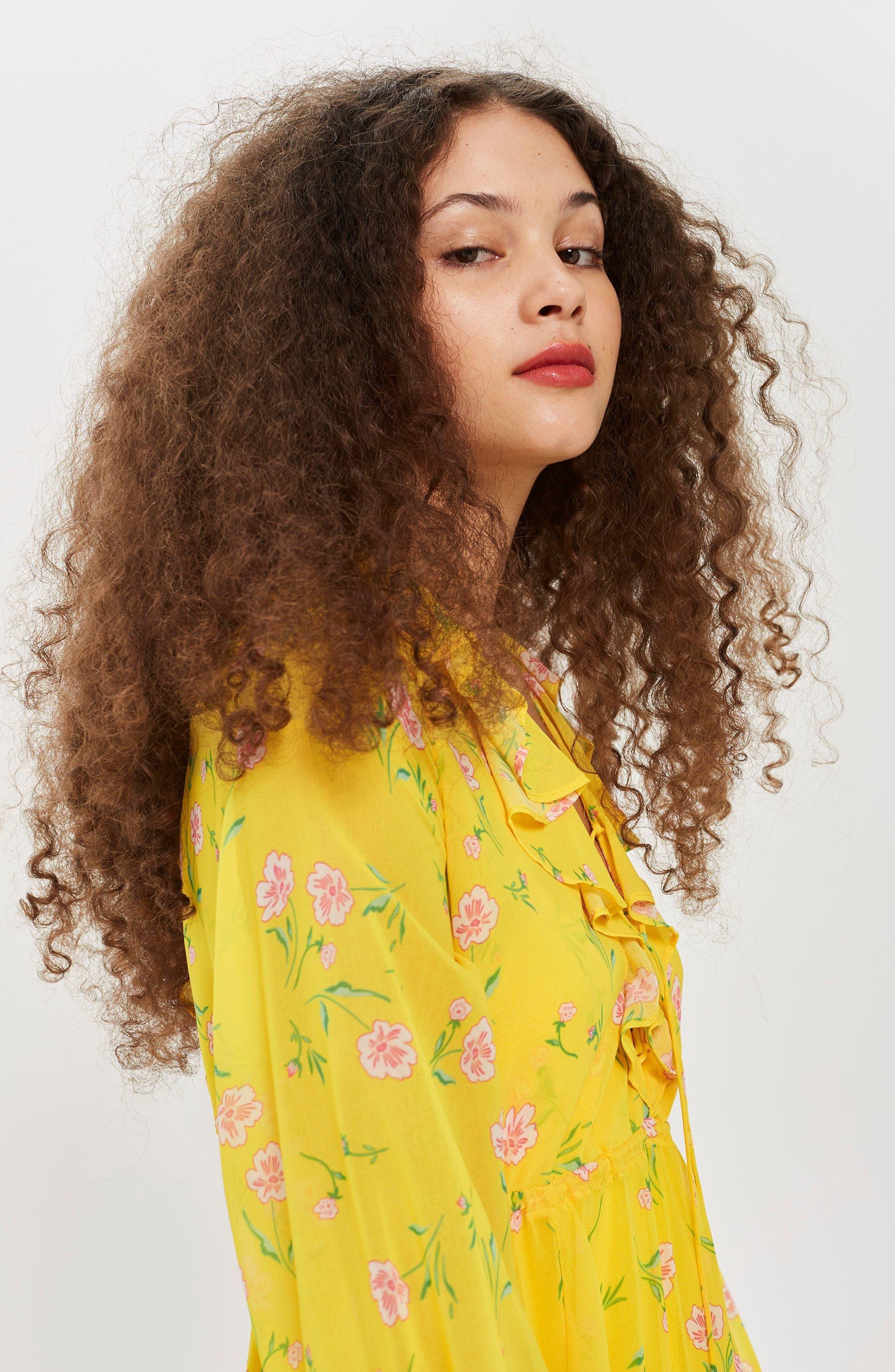 Margot Floral Maxi Dress,                             Alternate thumbnail 4, color,                             Yellow Multi
