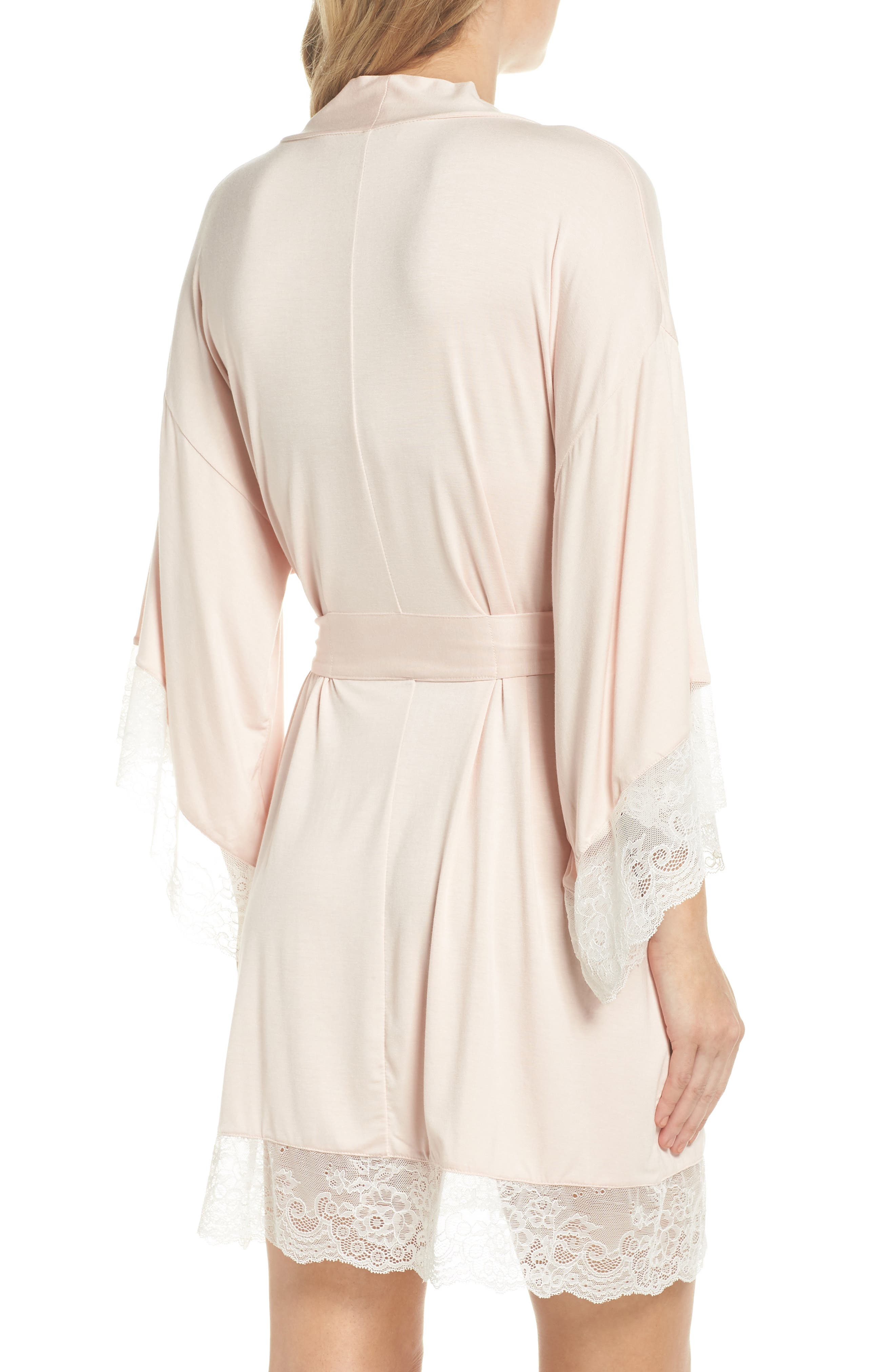 Serafina Kimono Robe,                             Alternate thumbnail 2, color,                             Pink