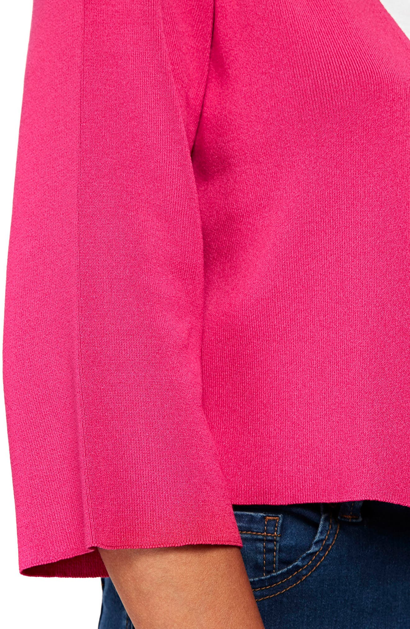 Wide Sleeve Shrug Sweater,                             Alternate thumbnail 2, color,                             Pink