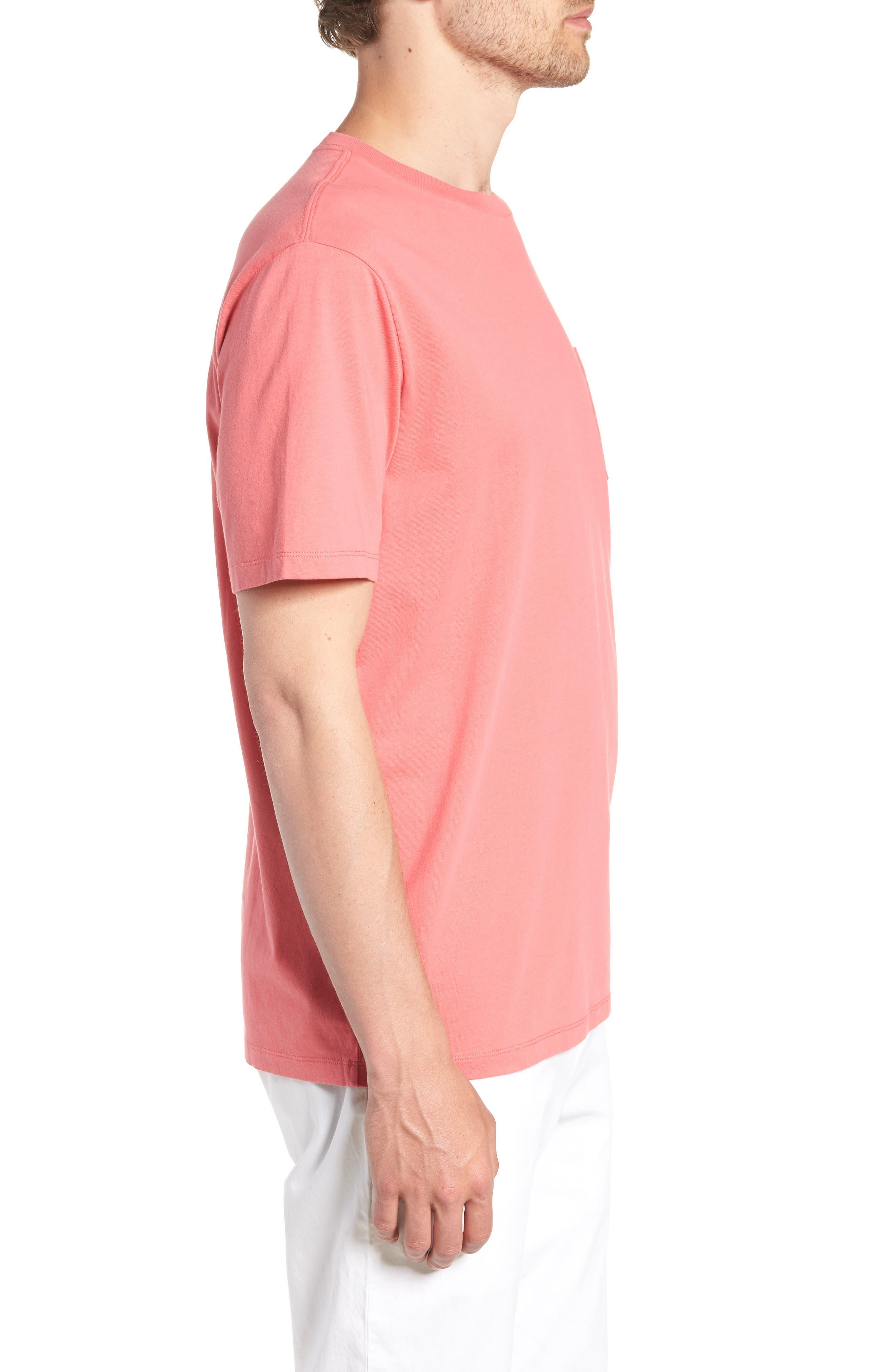 Vineyard Hook Regular Fit Crewneck T-Shirt,                             Alternate thumbnail 3, color,                             Jetty Red