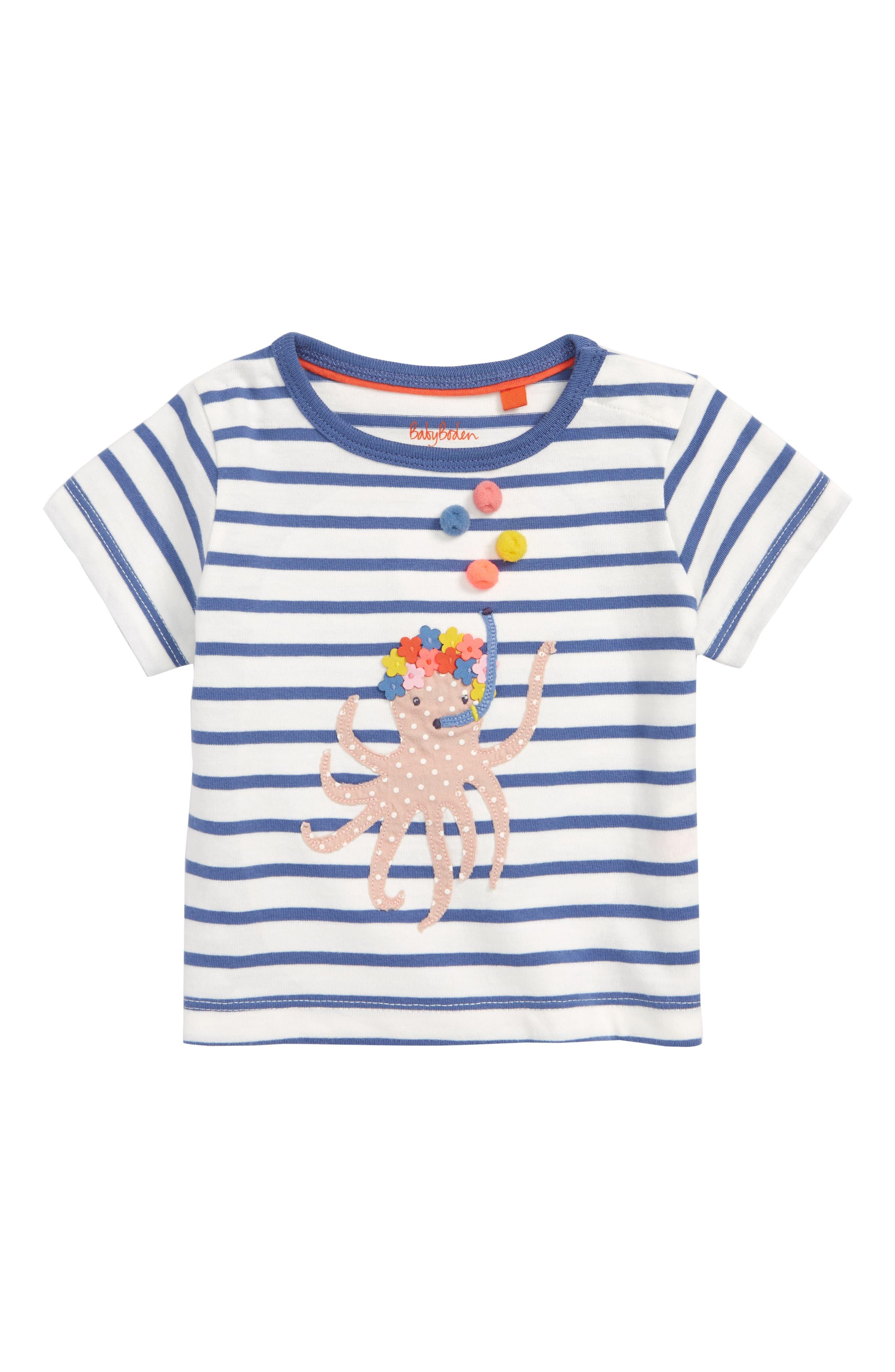 Mini Boden Fun Summer Appliqué Tee (Baby Girls & Toddler Girls)