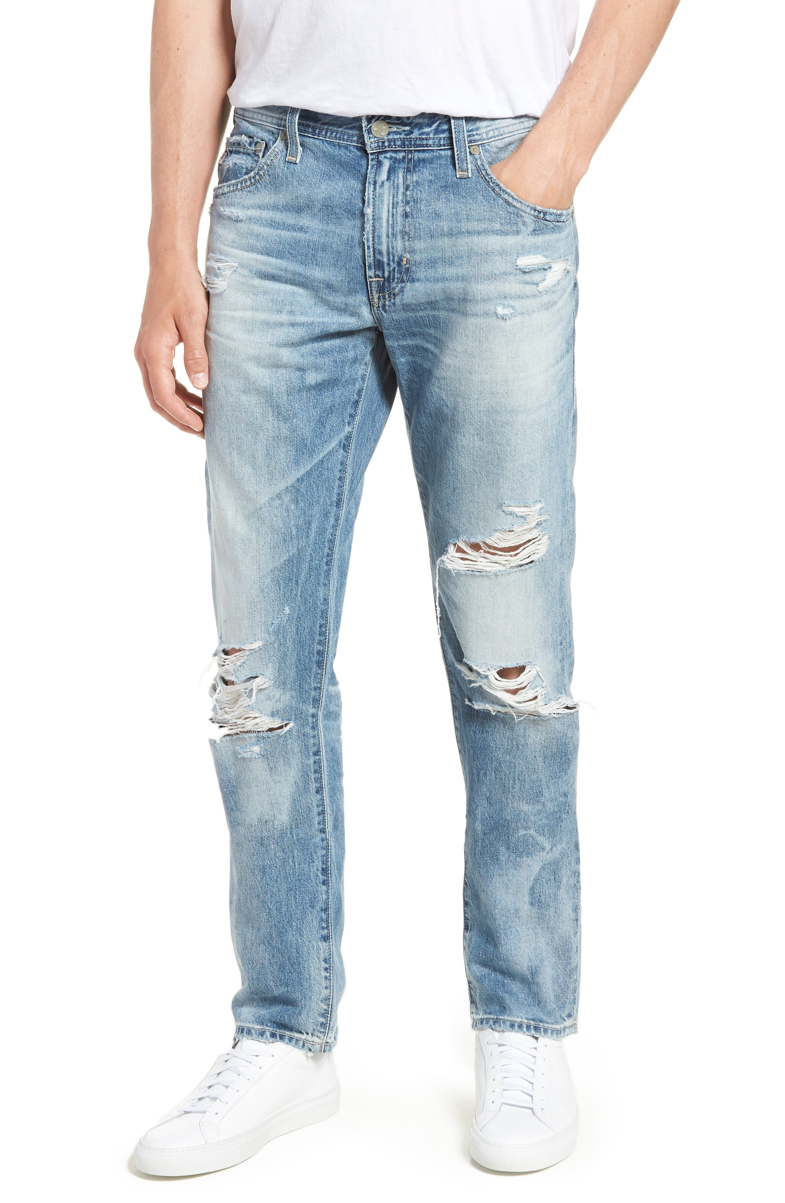 Tellis Slim Fit Jeans,                             Main thumbnail 1, color,                             23 Years Shearwater