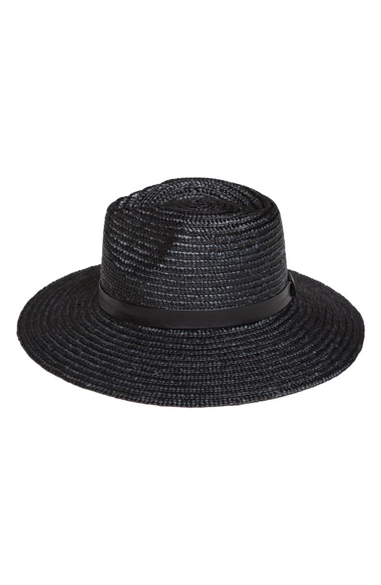 Amuse Society DON'T LOOK BACK STRAW HAT - BLACK