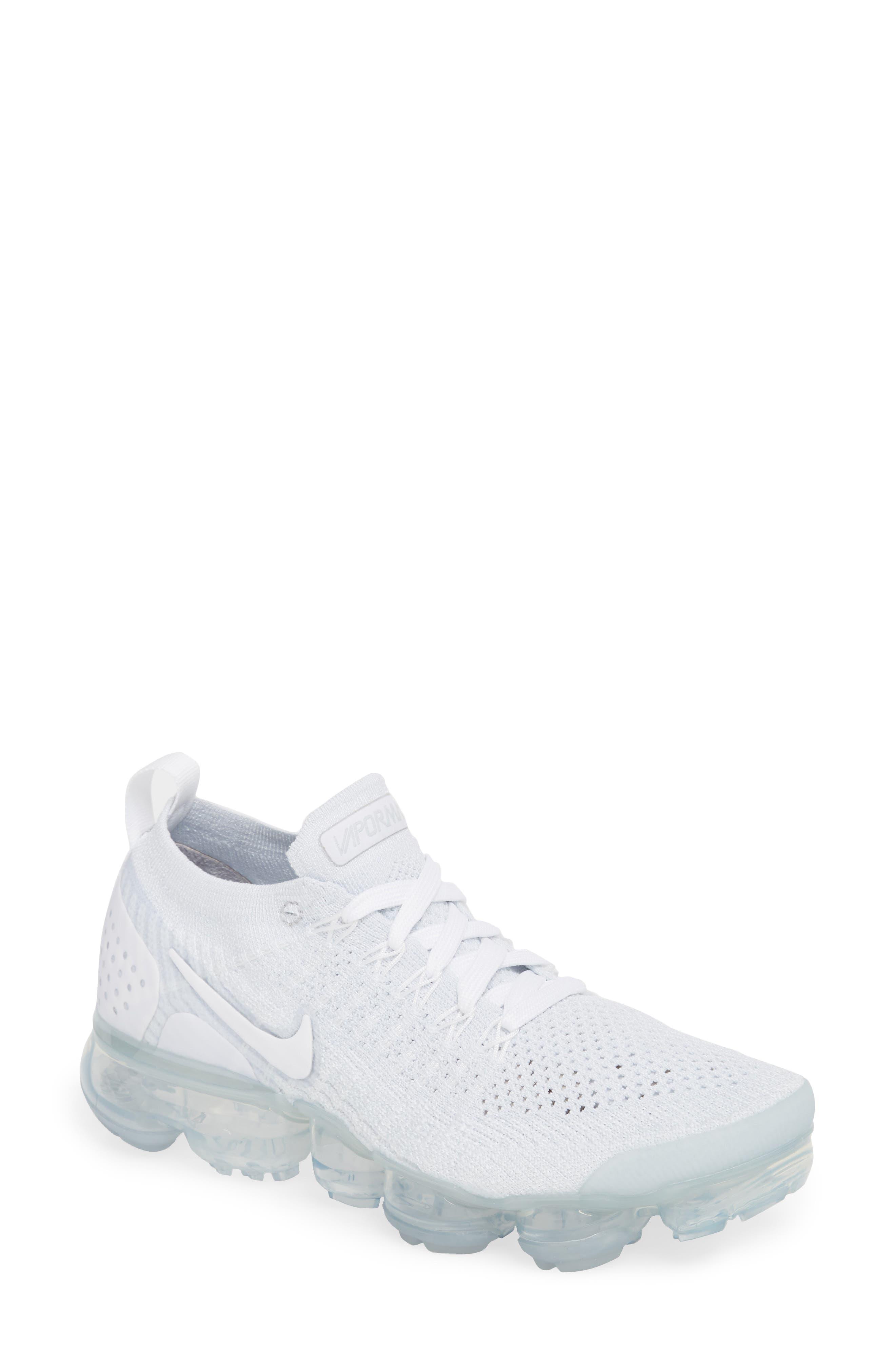 nike air vapormax flyknit 2 scarpa da corsa, bianco / bianco / puro