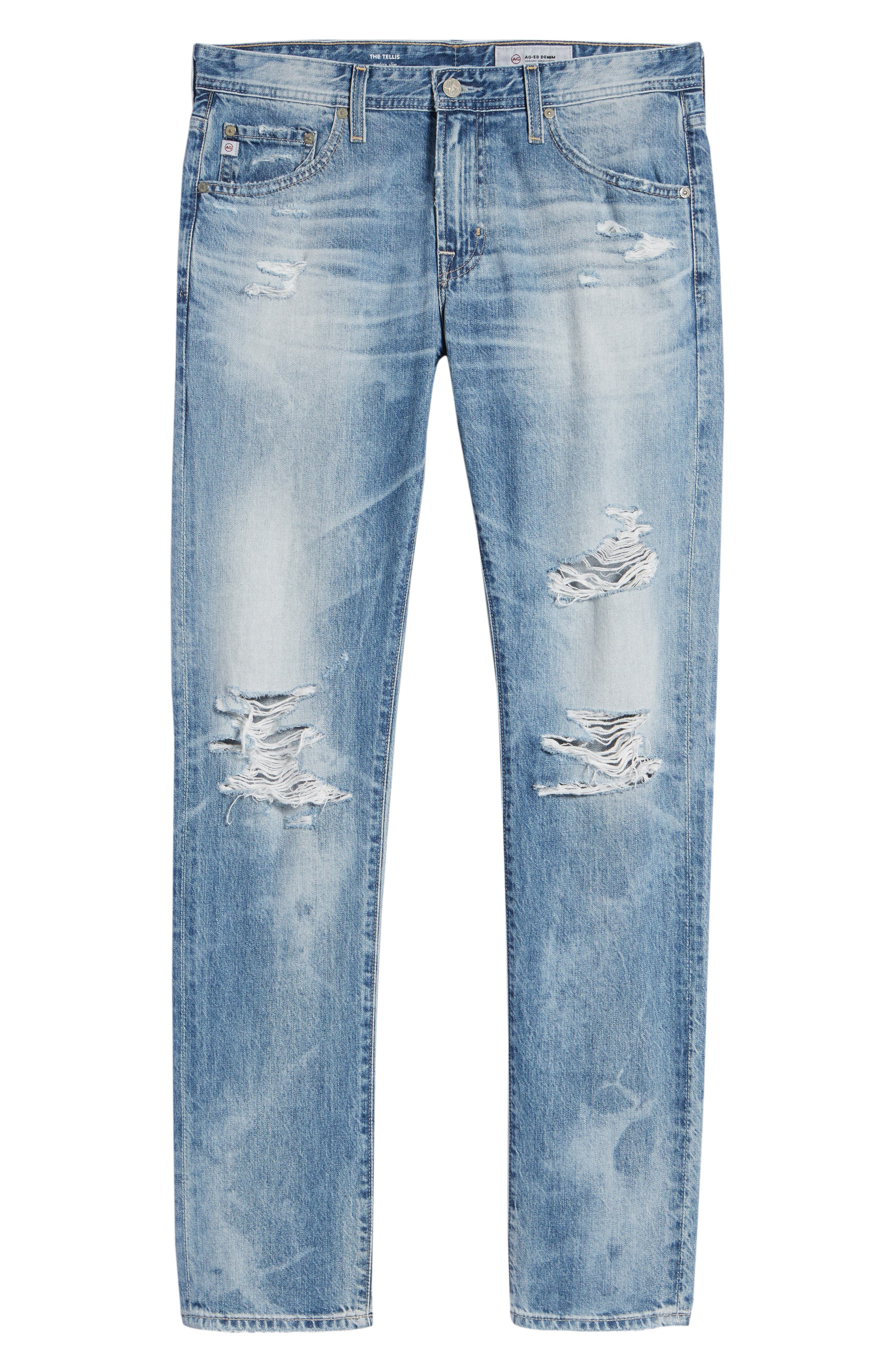 Tellis Slim Fit Jeans,                             Alternate thumbnail 6, color,                             23 Years Shearwater