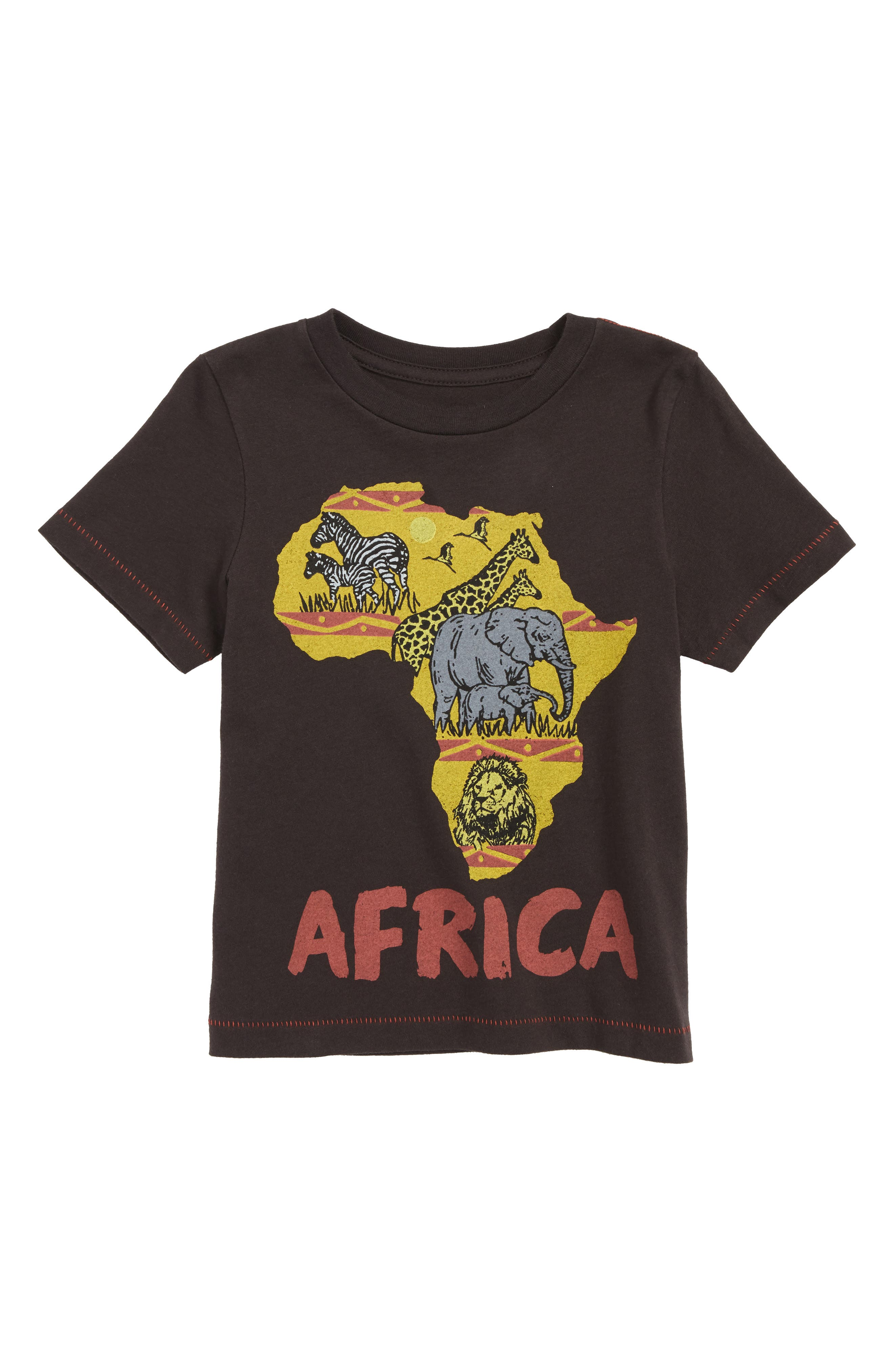 Africa Graphic T-Shirt,                             Main thumbnail 1, color,                             Black