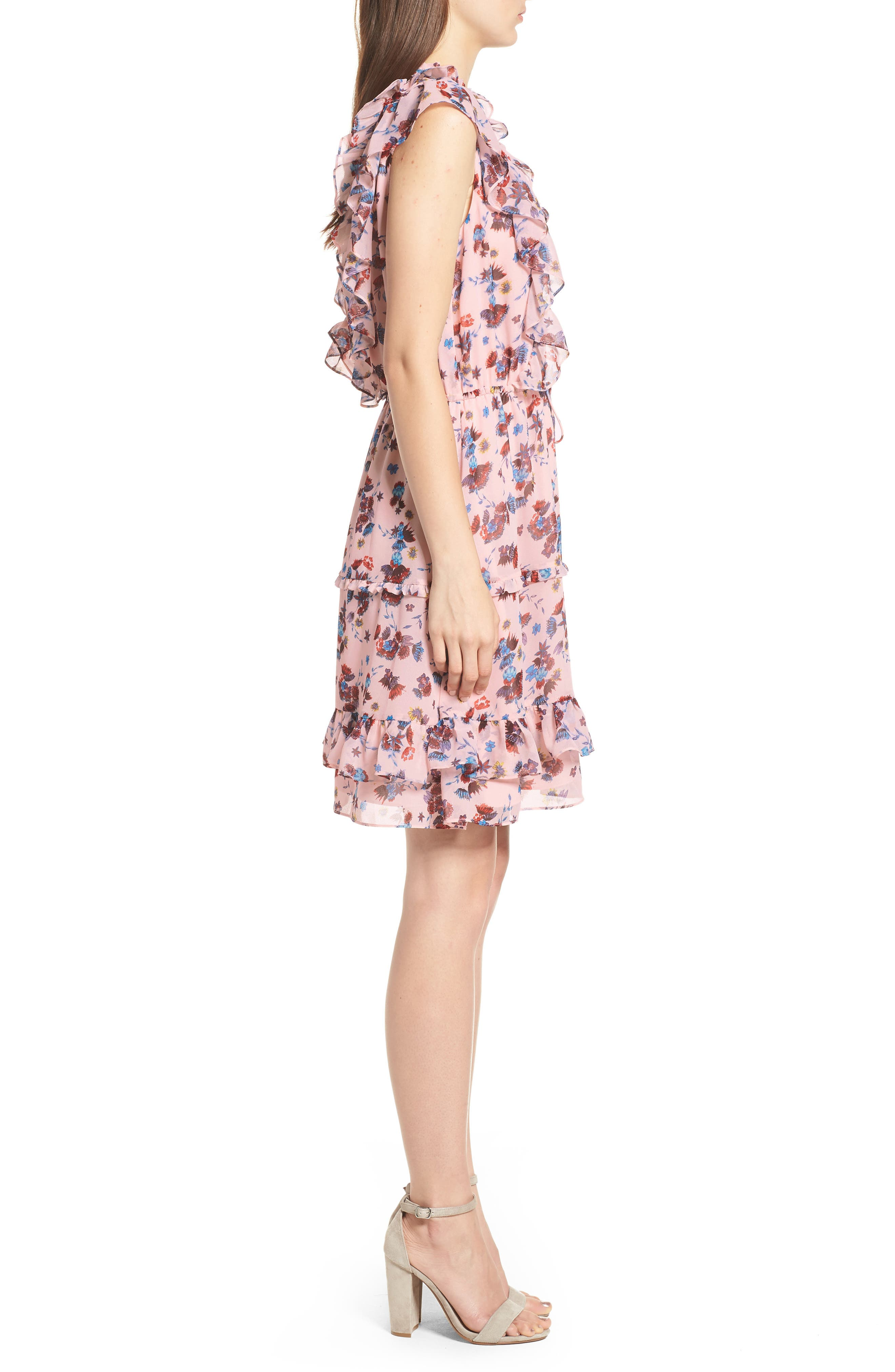 Kika Dress,                             Alternate thumbnail 3, color,                             Pink Multi
