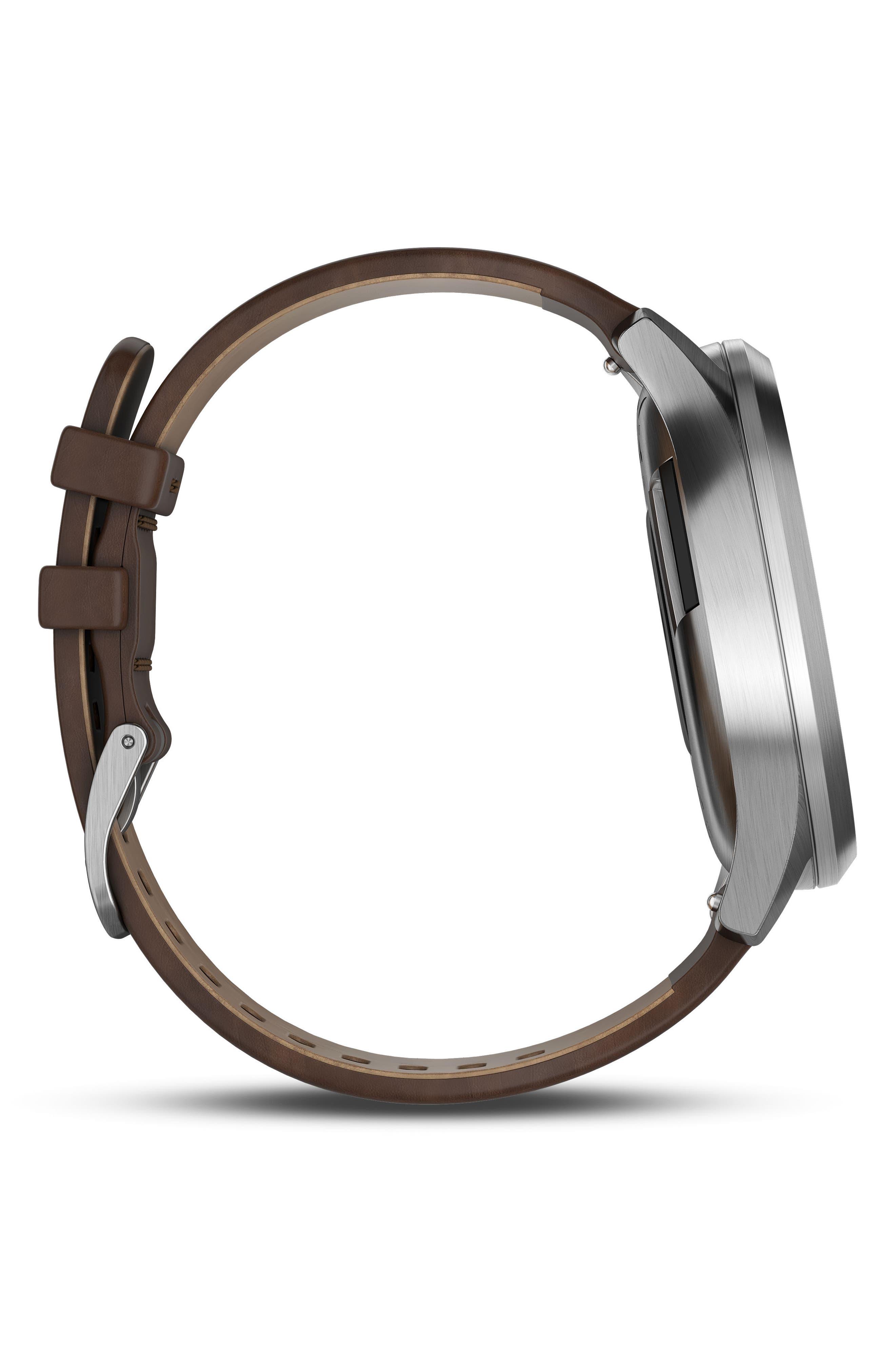 Vivomove HR Hybrid Smart Watch,                             Alternate thumbnail 7, color,                             Brown/ Black/ Silver