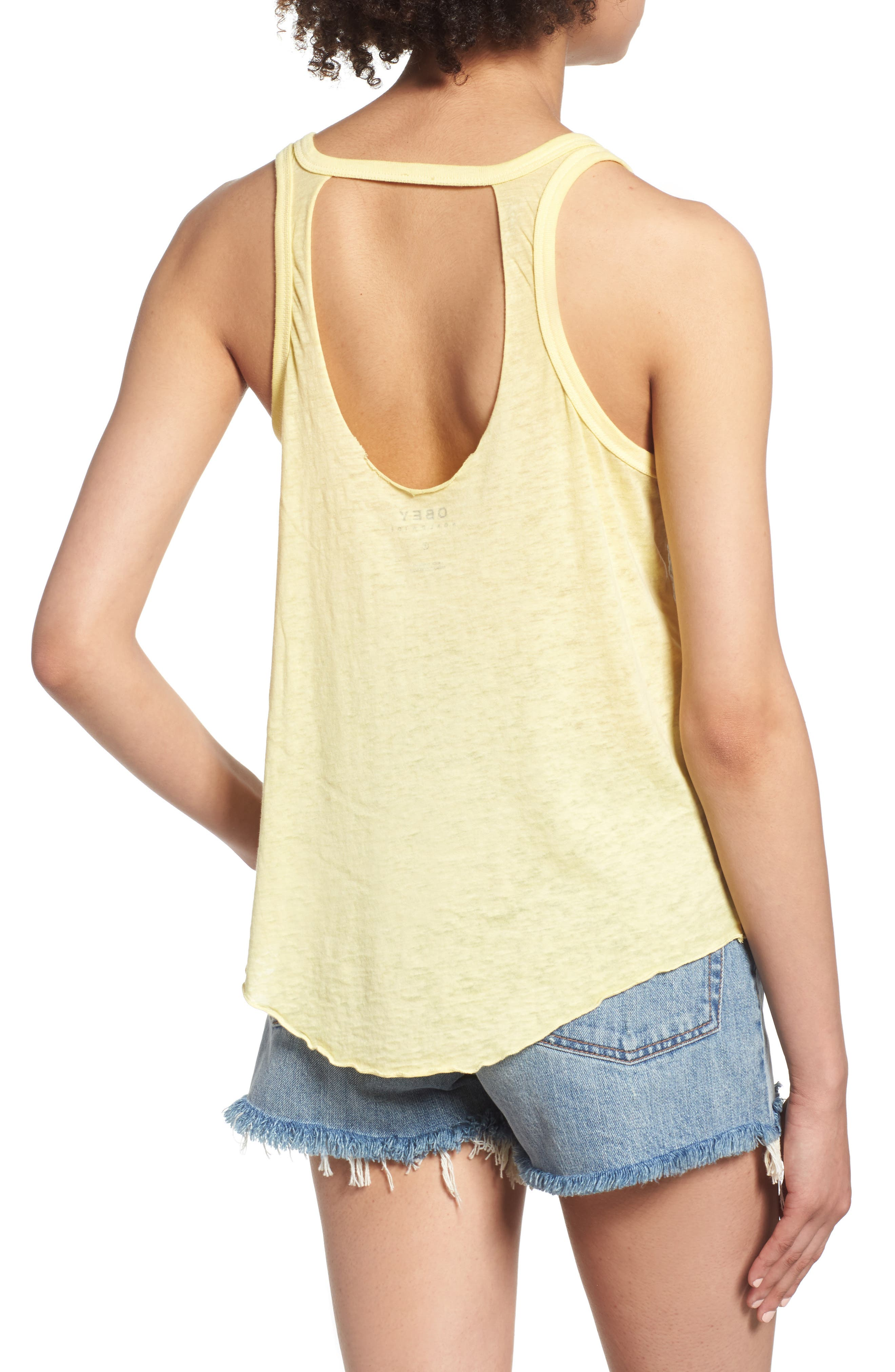 Problems in Paradise Graphic Tank,                             Alternate thumbnail 2, color,                             Yellow
