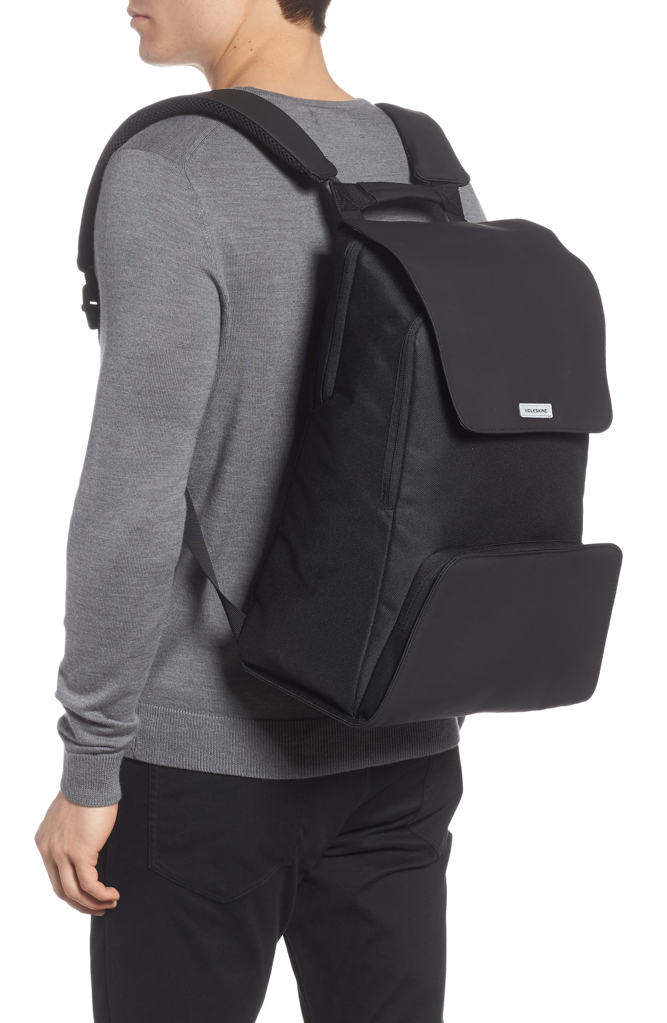 Nomad Water Resistant Backpack,                             Alternate thumbnail 2, color,                             Black