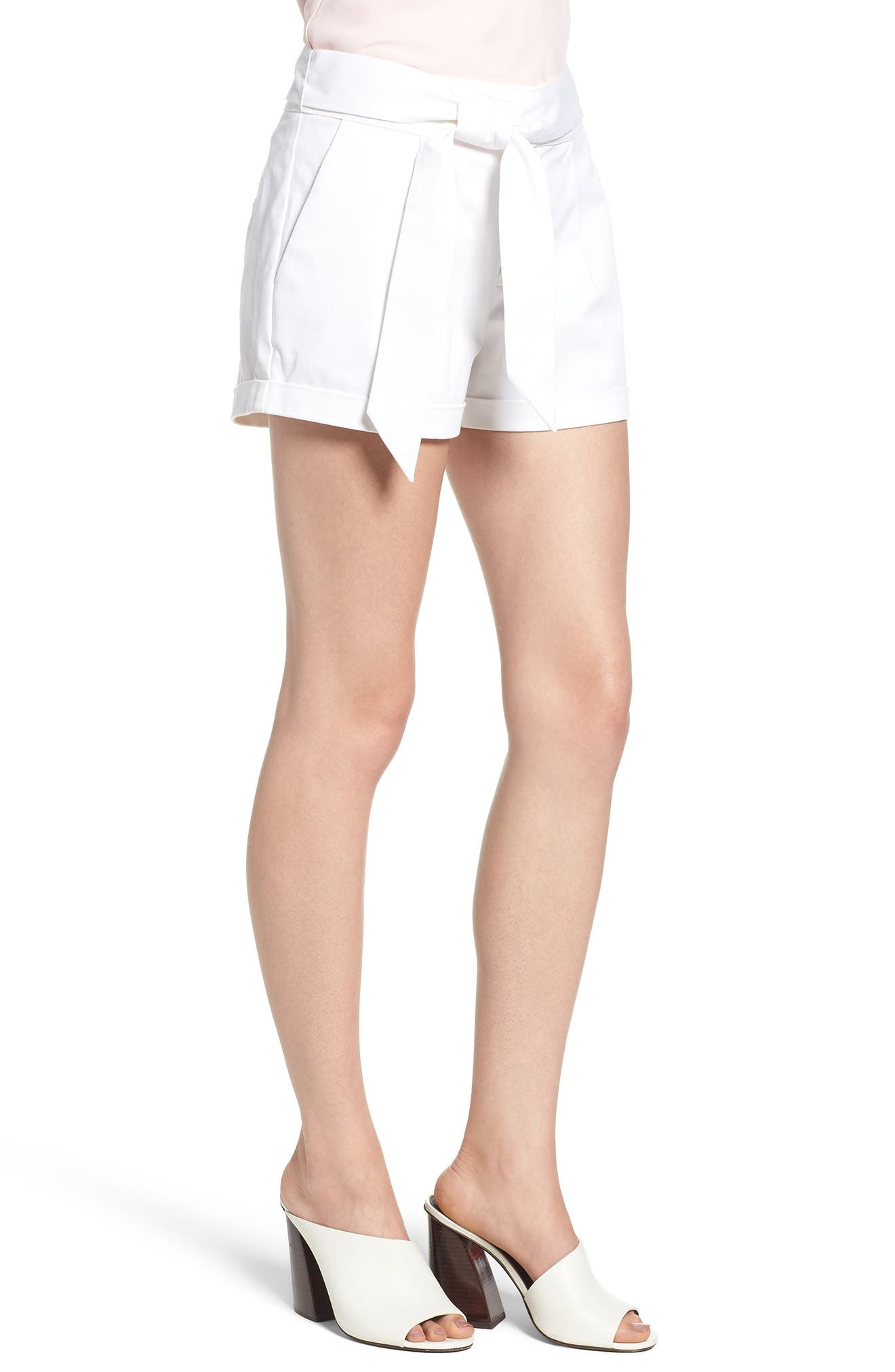Yelinda Shorts,                             Alternate thumbnail 3, color,                             White