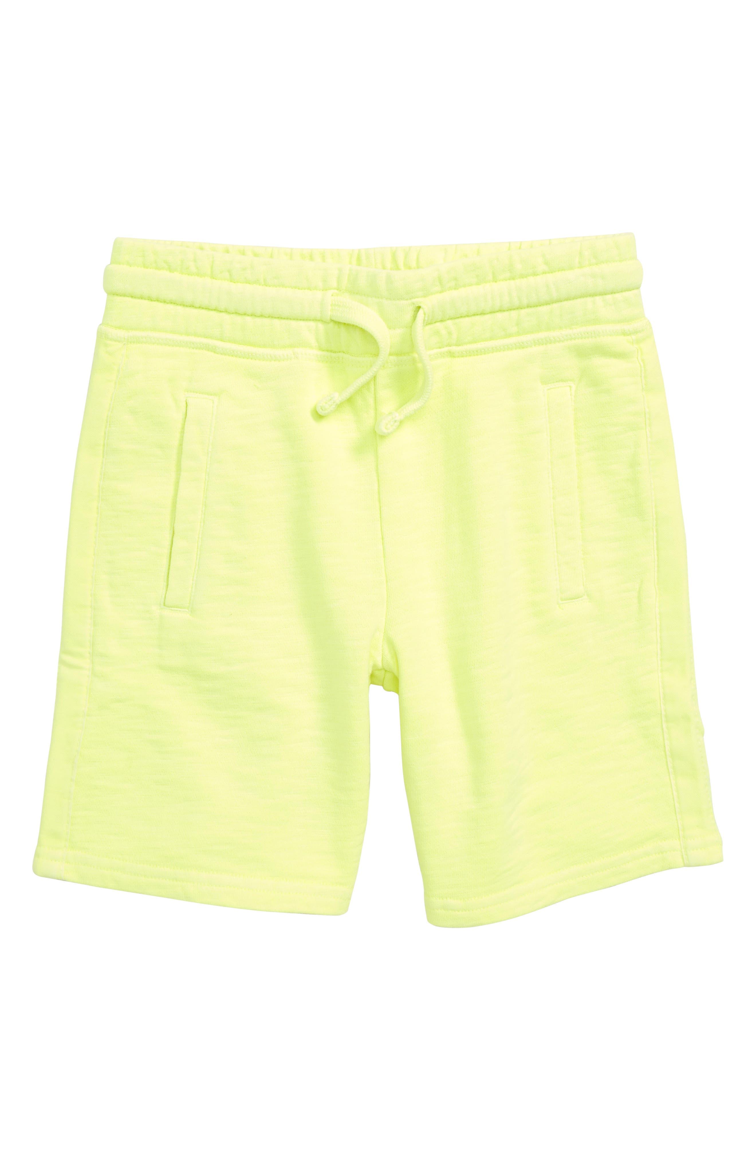 Garment Dyed Sweatshorts,                         Main,                         color, Acid Yellow