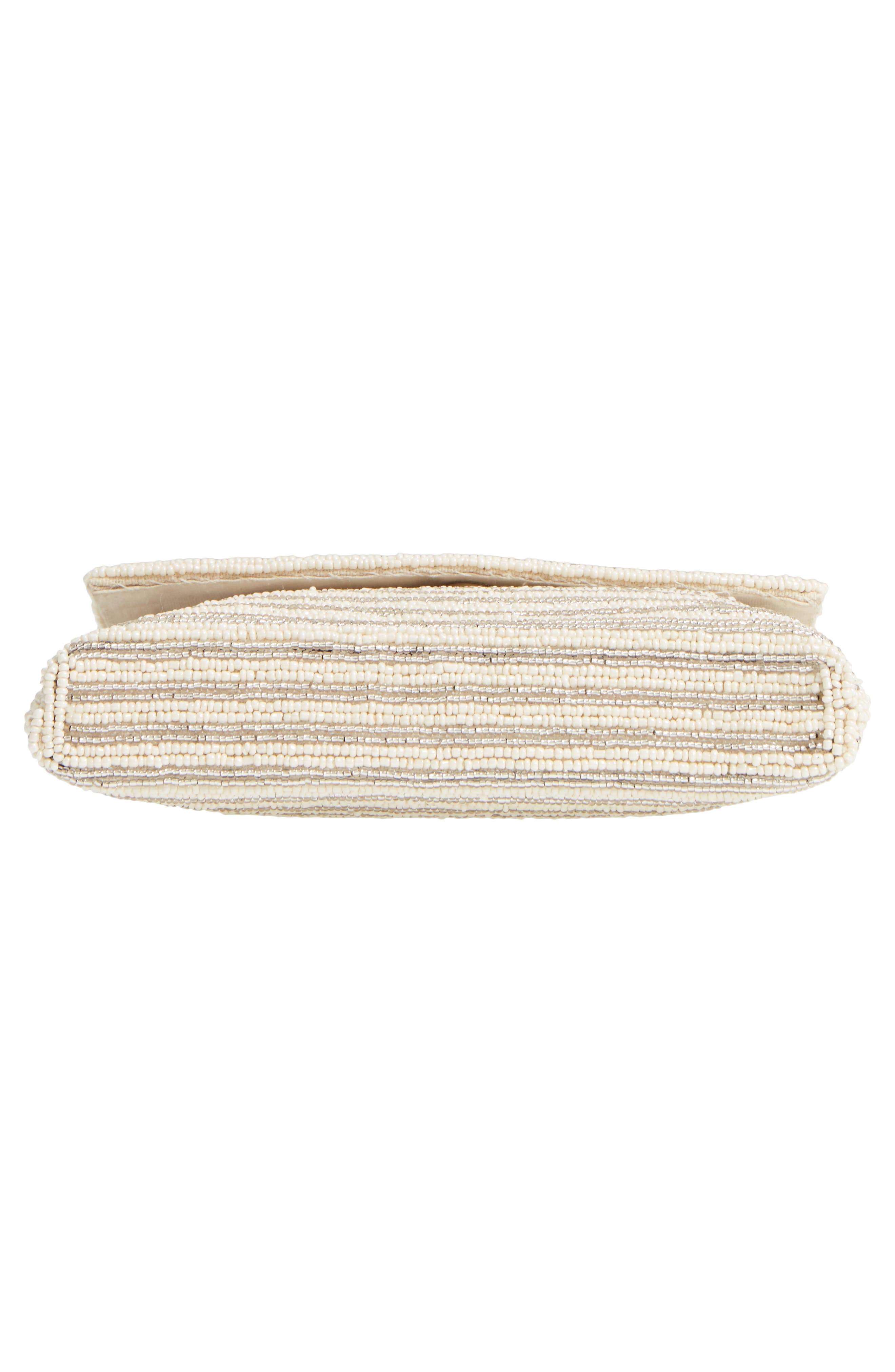 Beaded Clutch,                             Alternate thumbnail 6, color,                             Ivory Combo
