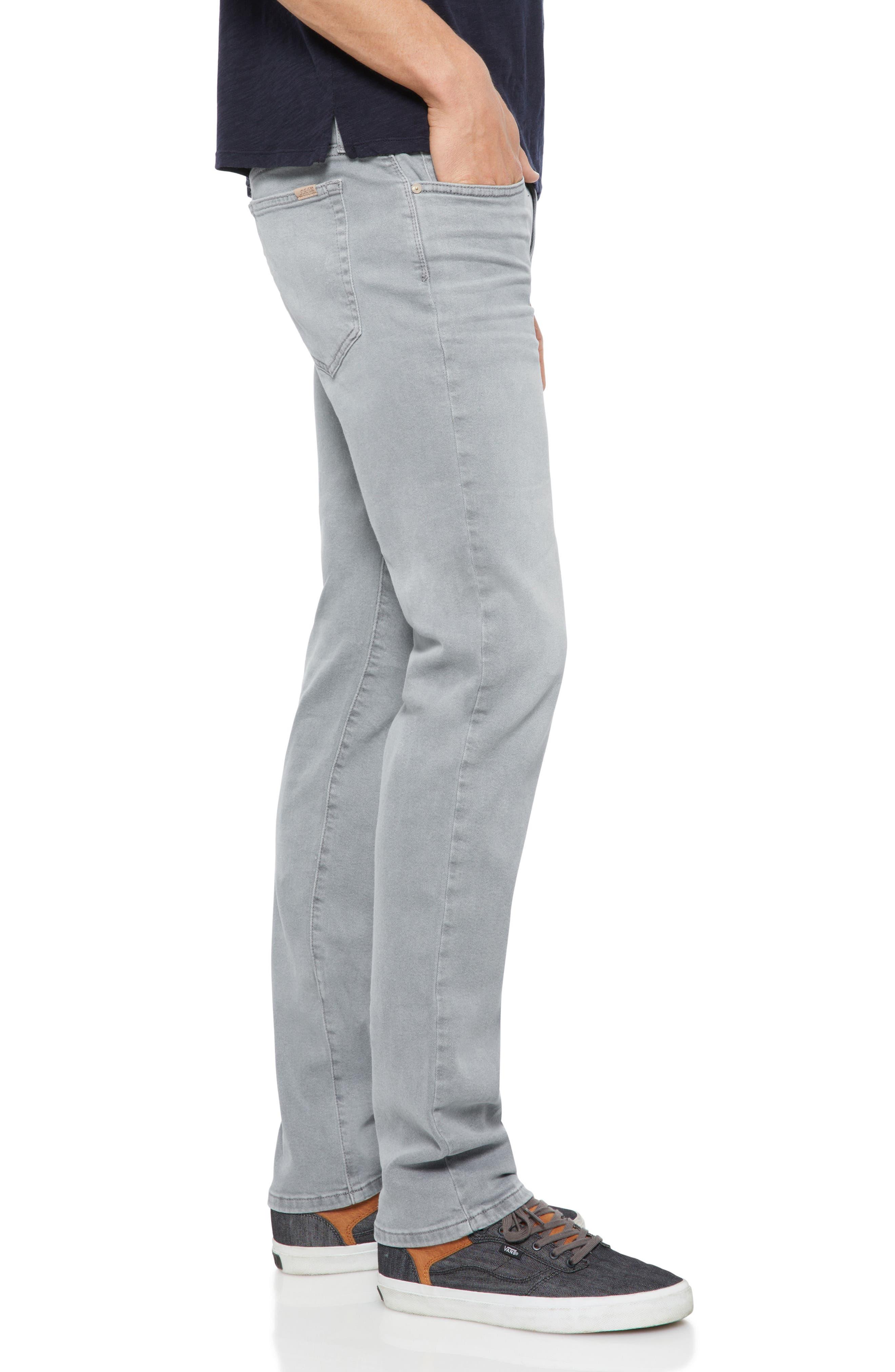 Brixton Slim Straight Leg Jeans,                             Alternate thumbnail 3, color,                             Feather