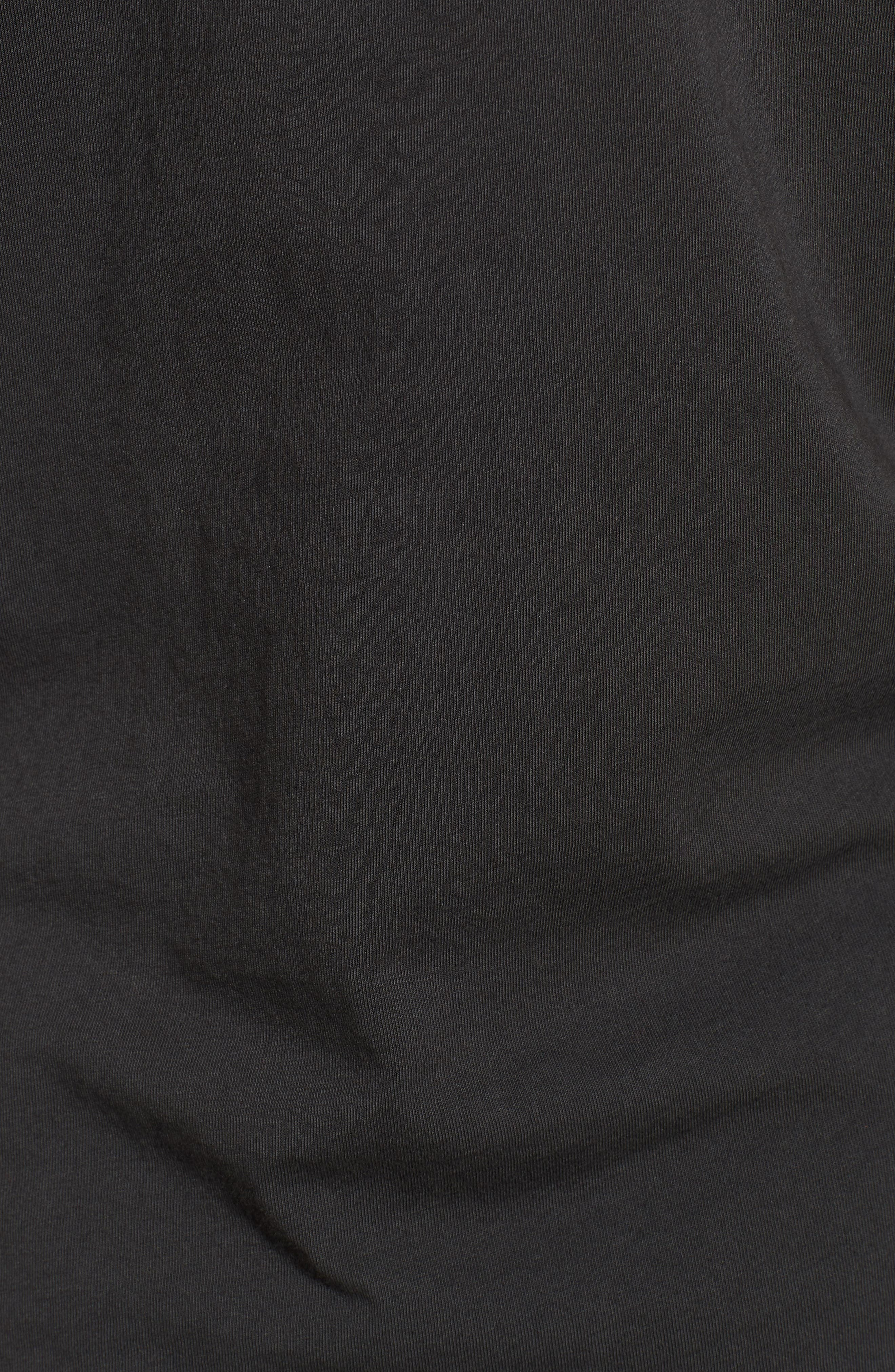 Only the Good Crewneck T-Shirt,                             Alternate thumbnail 5, color,                             Dusty Black