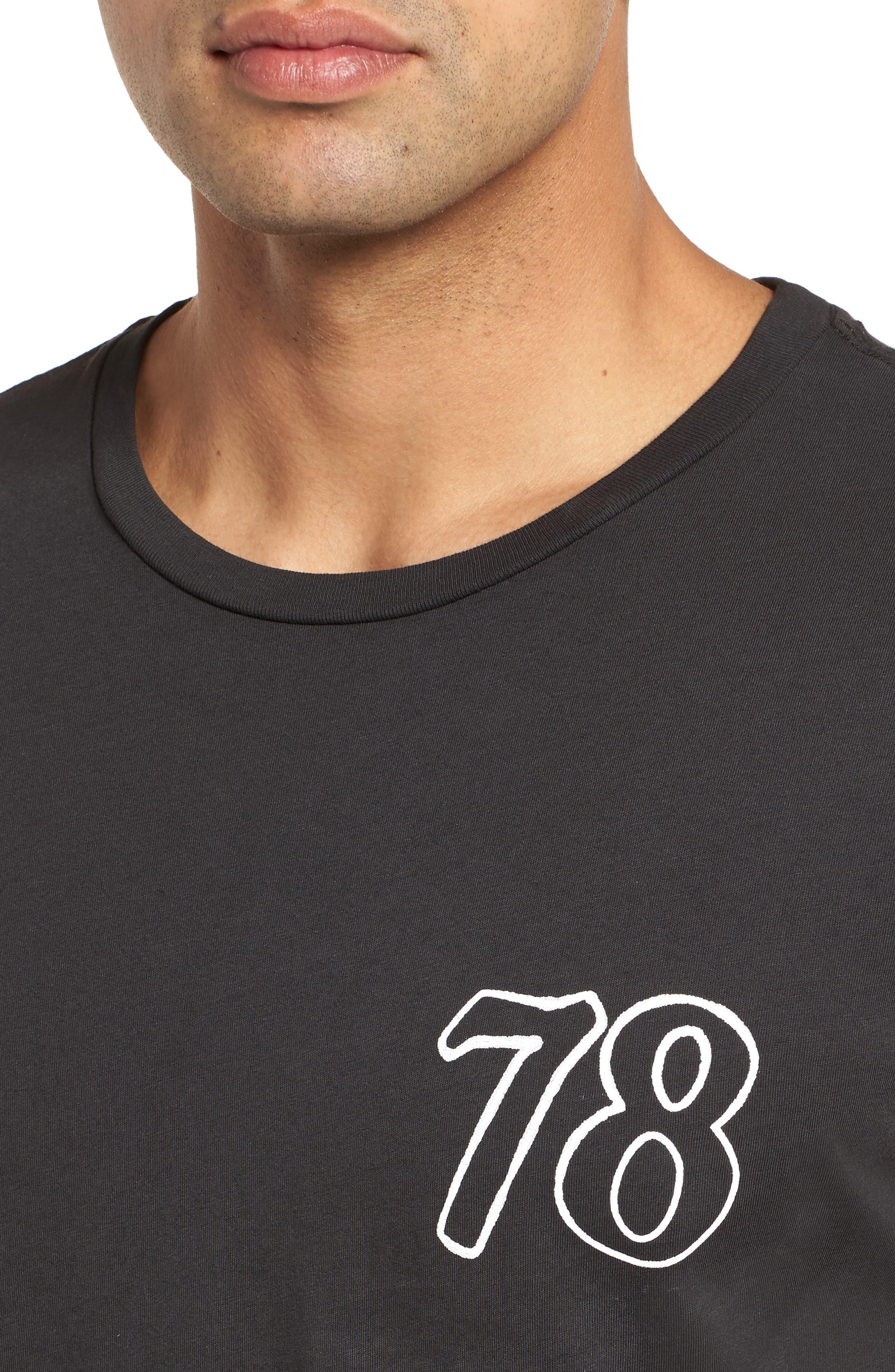 Only the Good Crewneck T-Shirt,                             Alternate thumbnail 4, color,                             Dusty Black