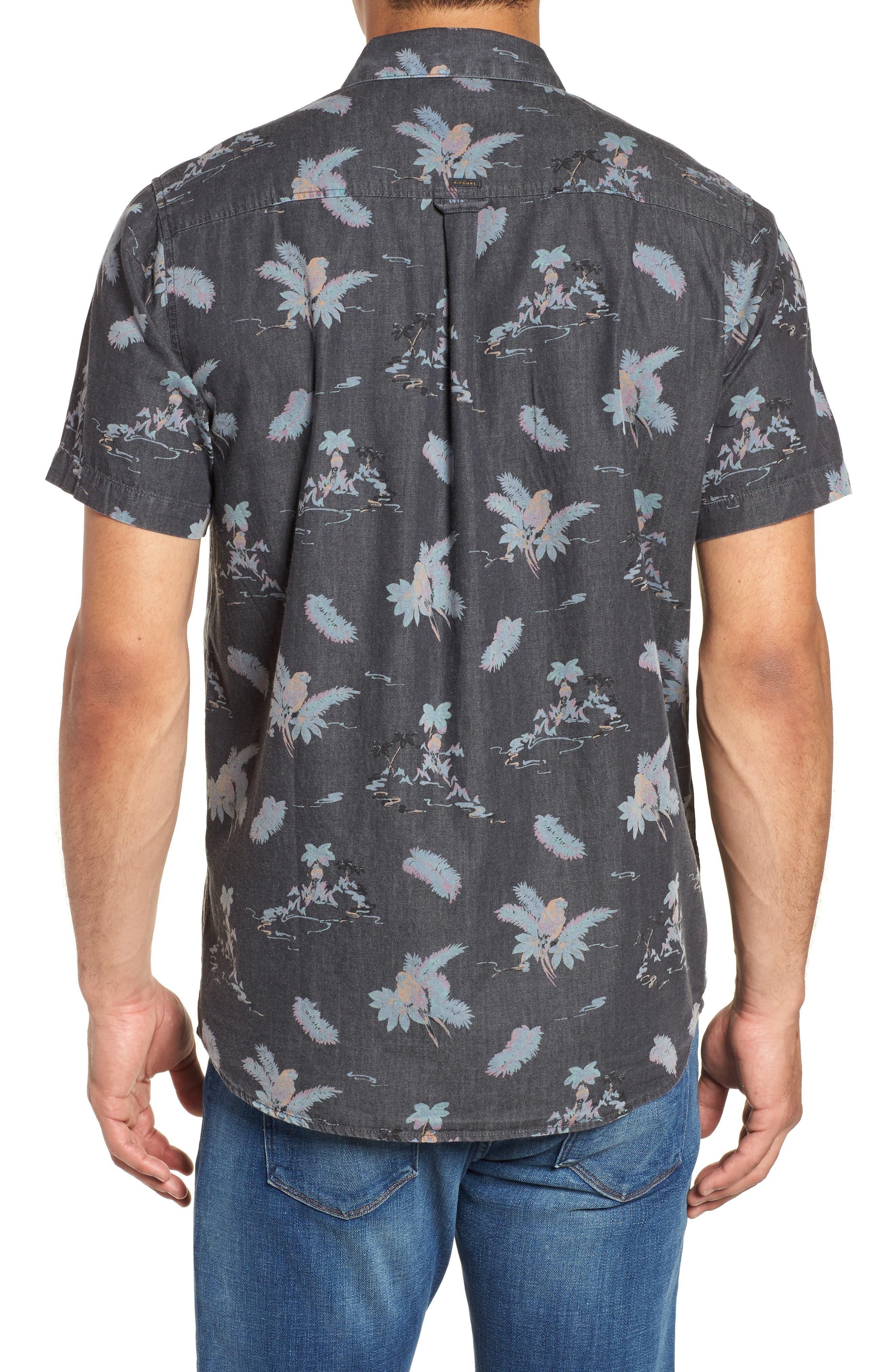 Meledrone Woven Shirt,                             Alternate thumbnail 3, color,                             Charcoal Grey