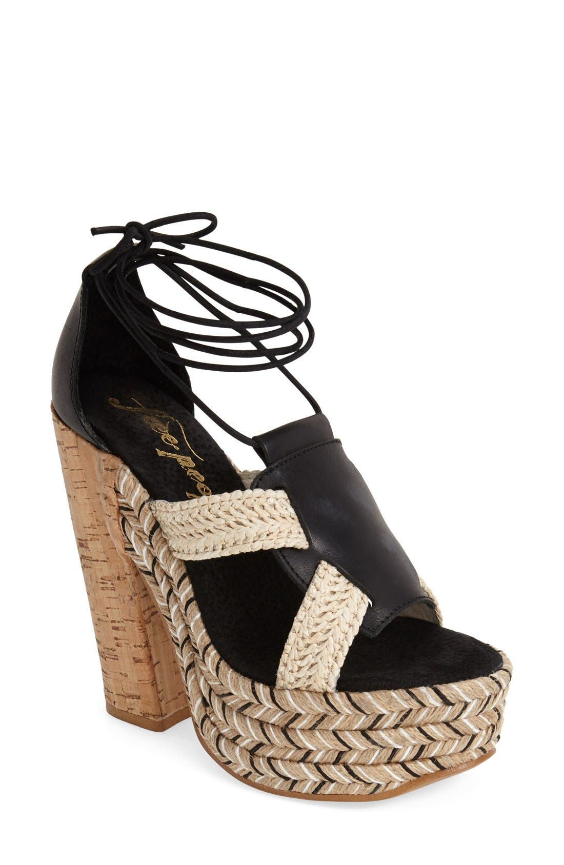 Alternate Image 1 Selected - Free People 'High Society' Platform Sandal (Women)