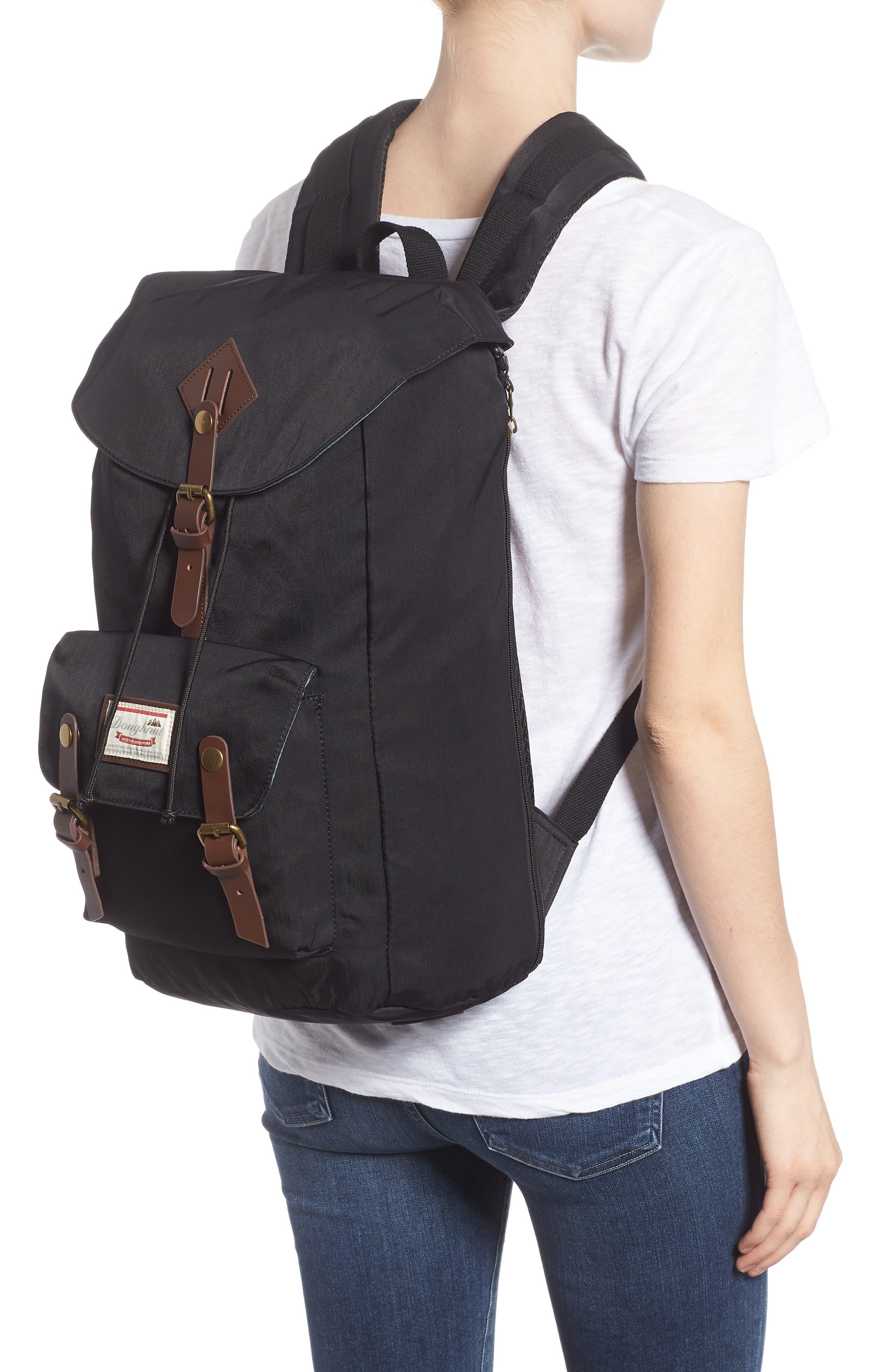 Heritage Water Repellent Backpack,                             Alternate thumbnail 2, color,                             Black