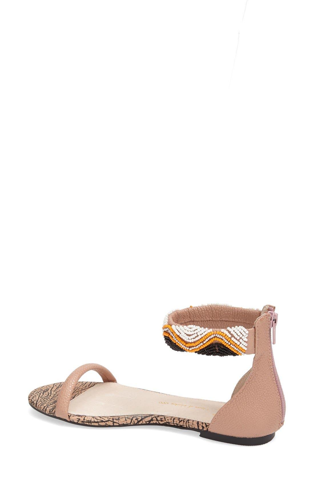 Alternate Image 2  - House of Harlow 1960 Beaded Ankle Strap Sandal (Women)