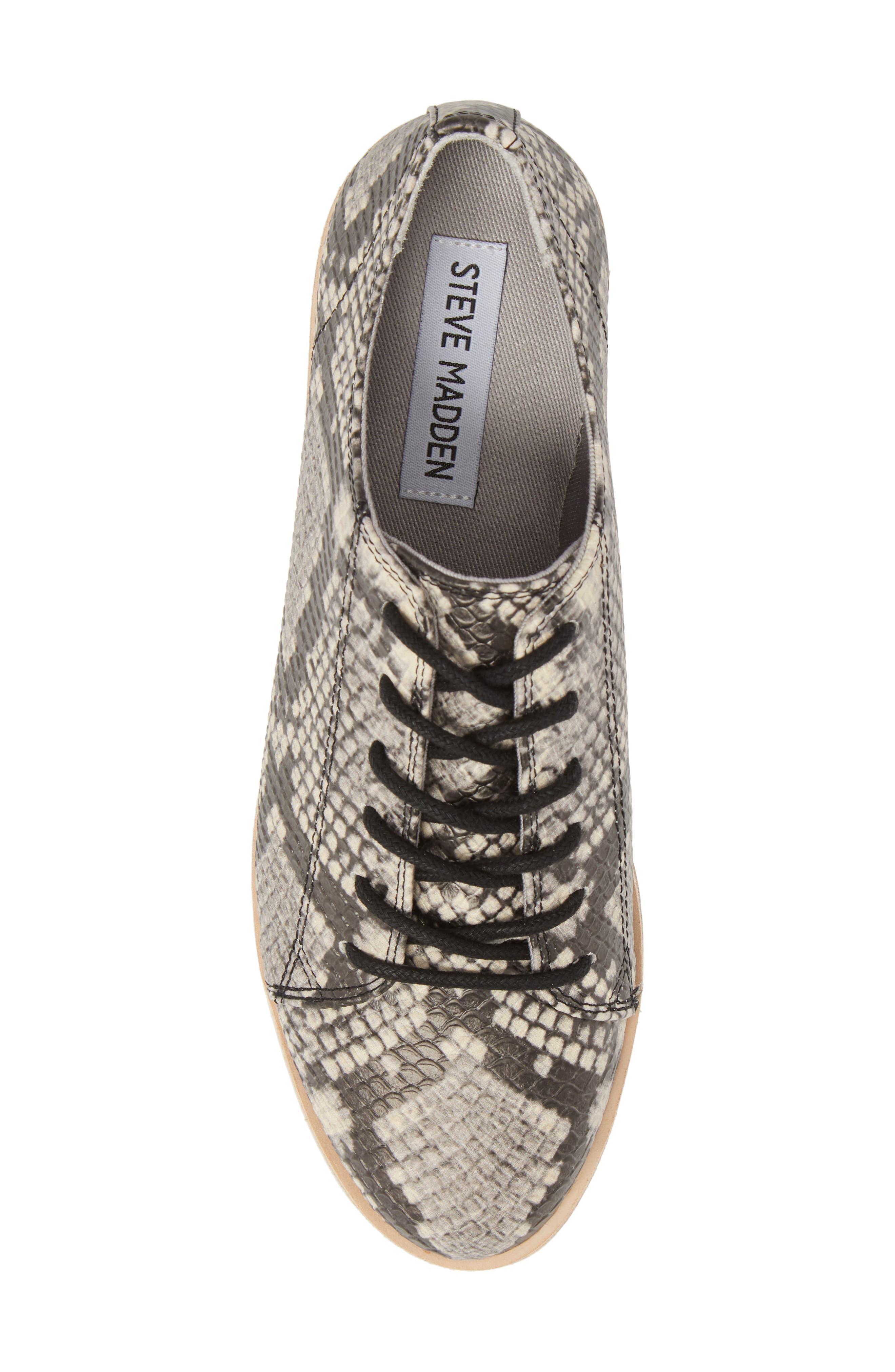Kimber Wedge Platform Sneaker,                             Alternate thumbnail 5, color,                             Natural Snake Print