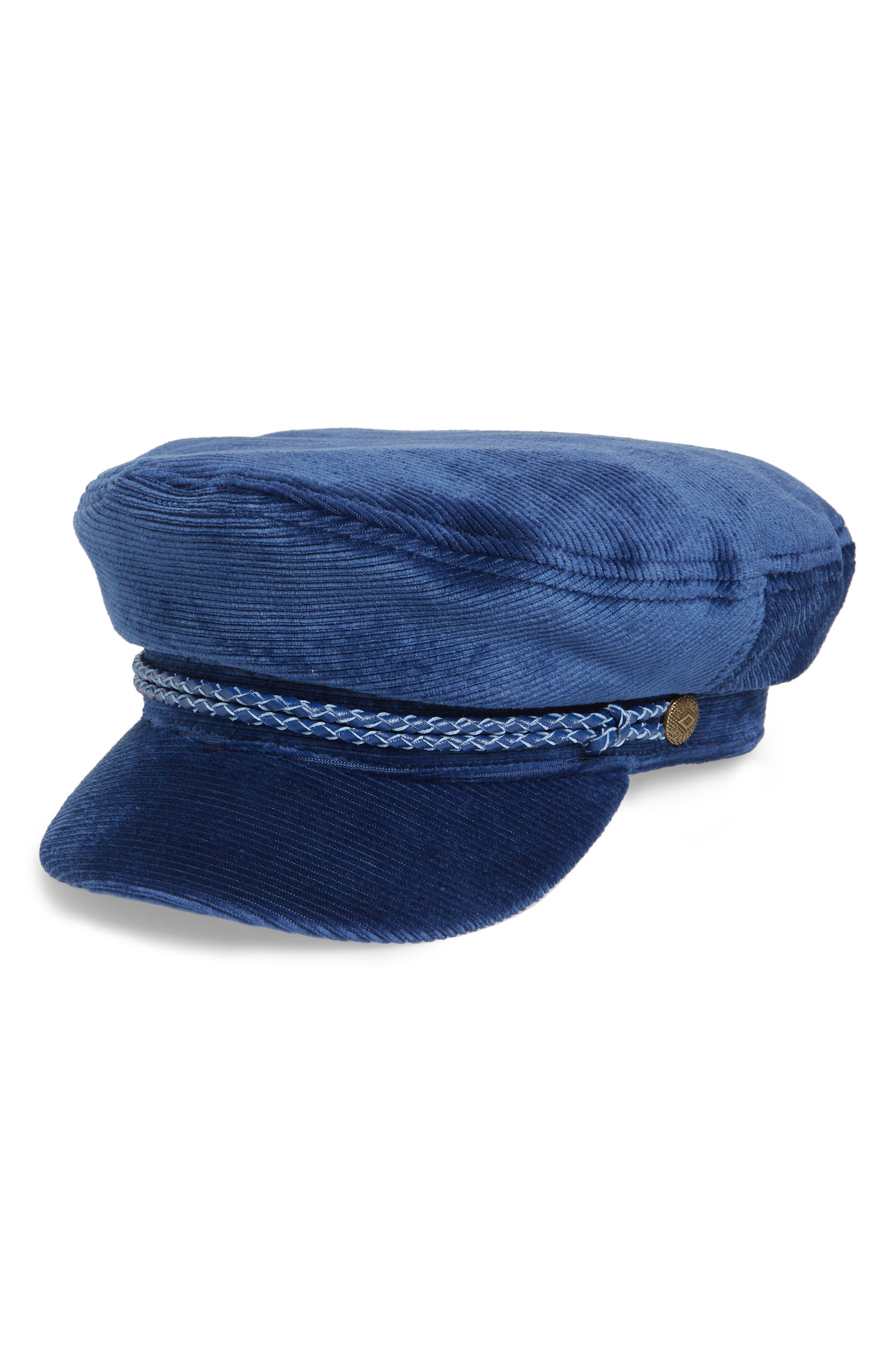 Fiddler Corduroy Baker Boy Cap,                         Main,                         color, Blue Cord