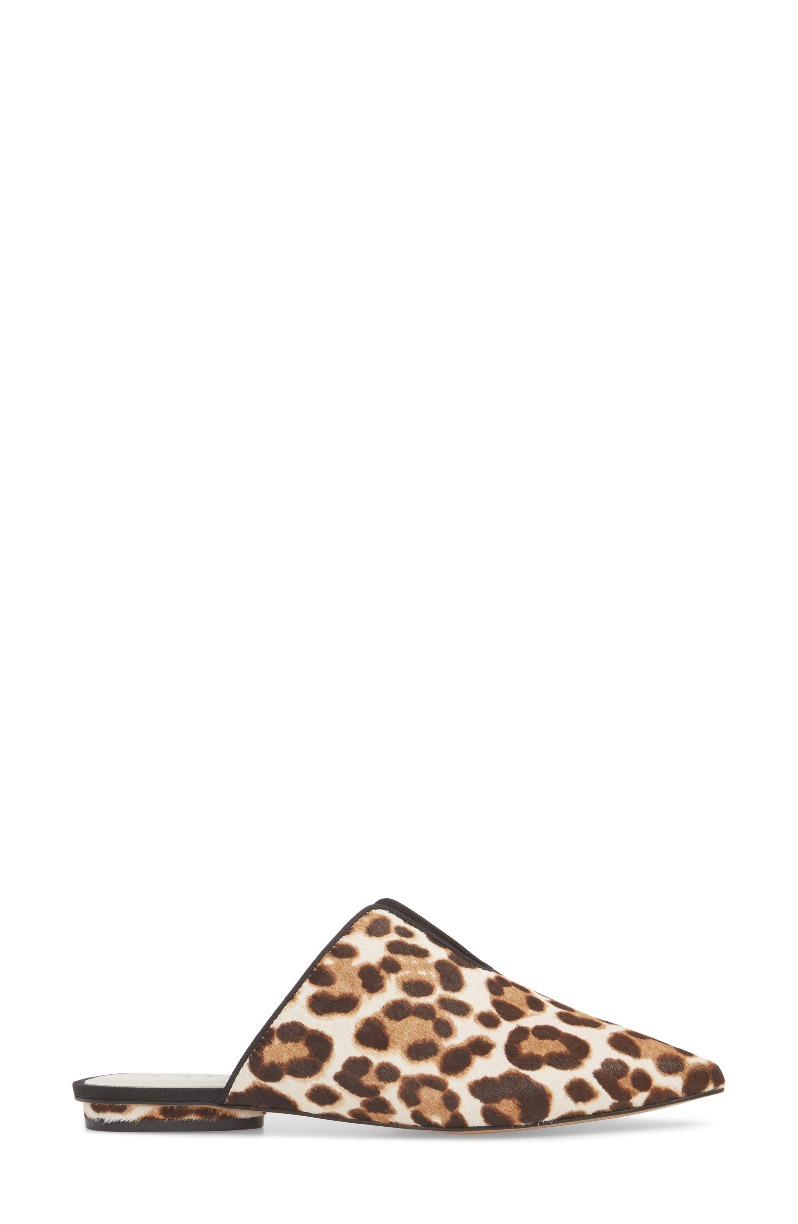 Genia Genuine Calf Hair Mule,                             Alternate thumbnail 3, color,                             Cheetah/ Black Calf Hair