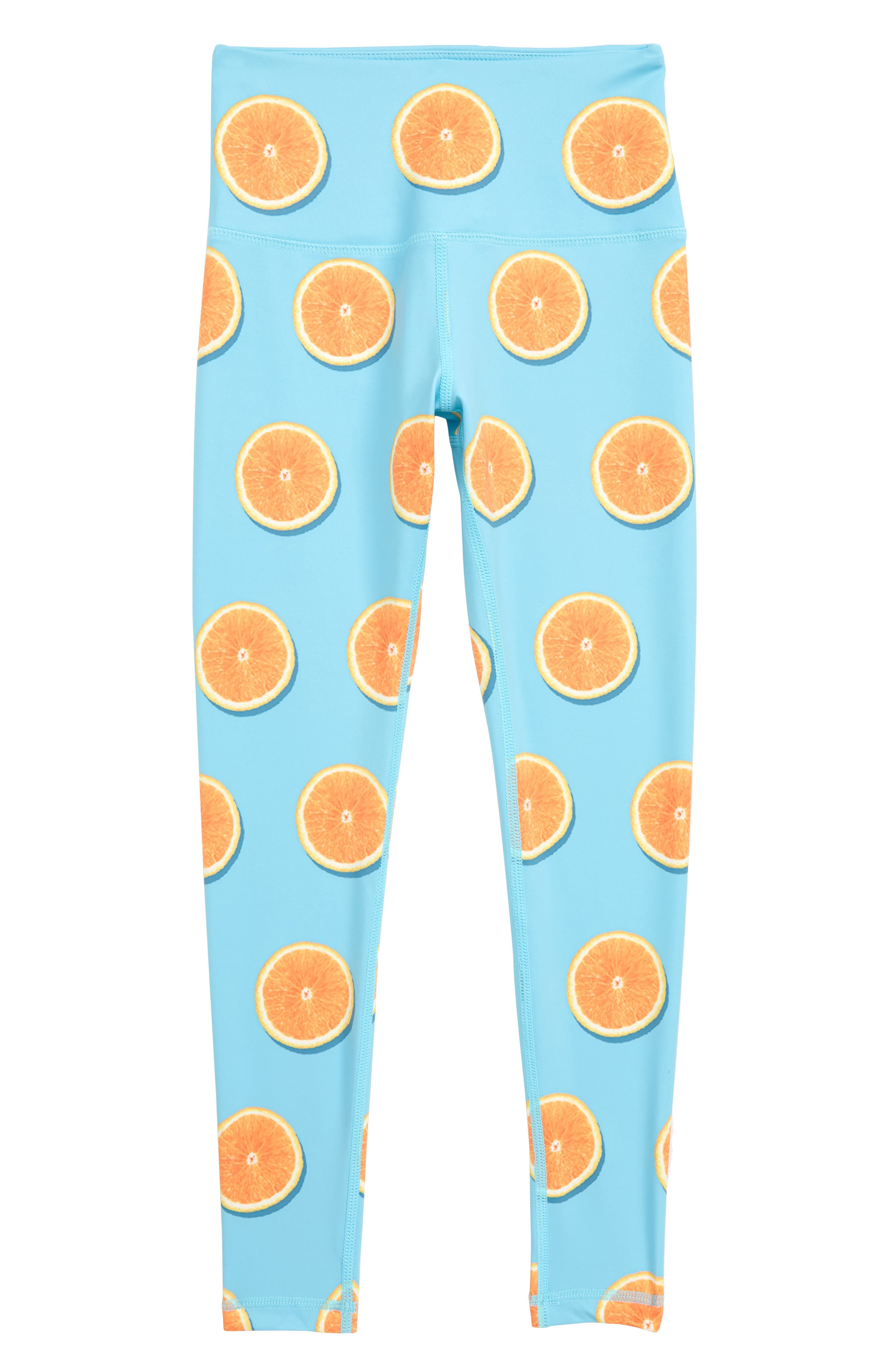 Oranges Of My Eyes Yoga Pants,                         Main,                         color, Blue
