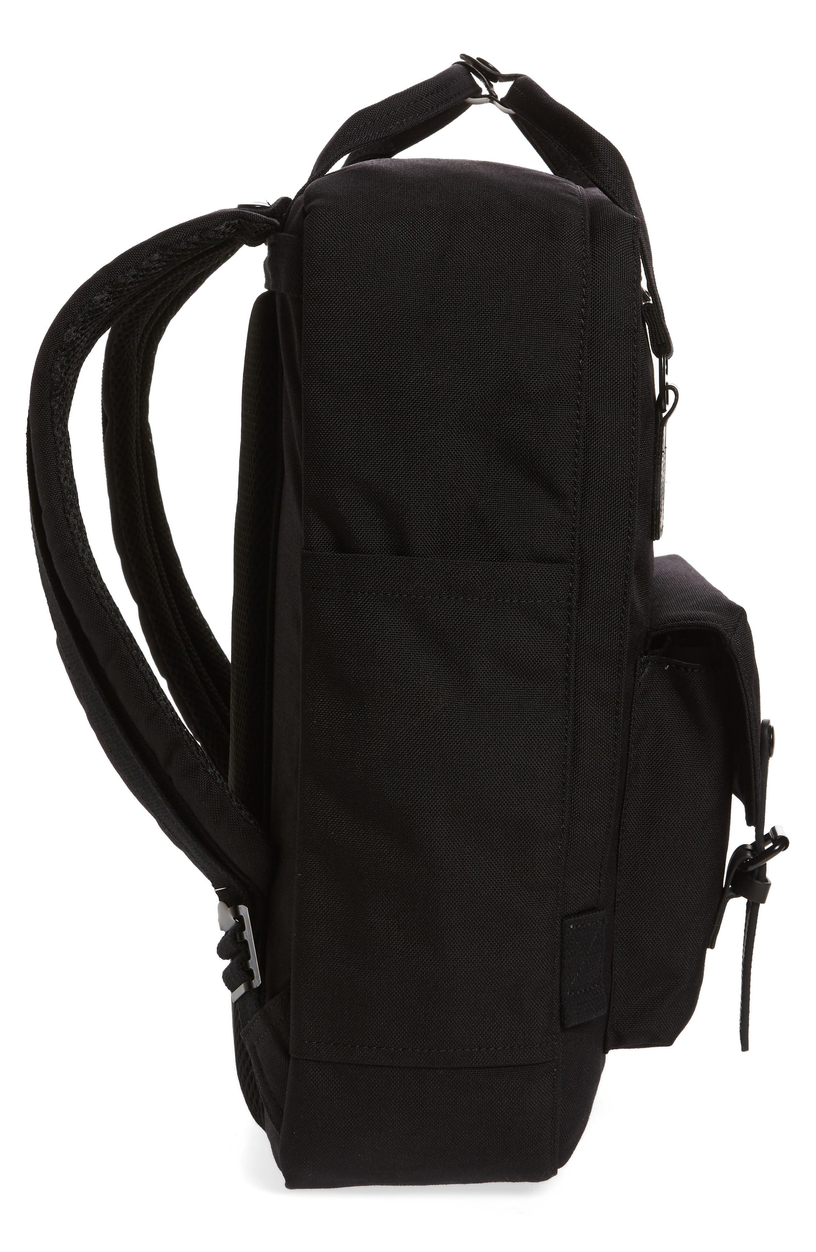 Macaroon Large Cordura<sup>®</sup> Black Series Water Repellent Backpack,                             Alternate thumbnail 5, color,                             Black