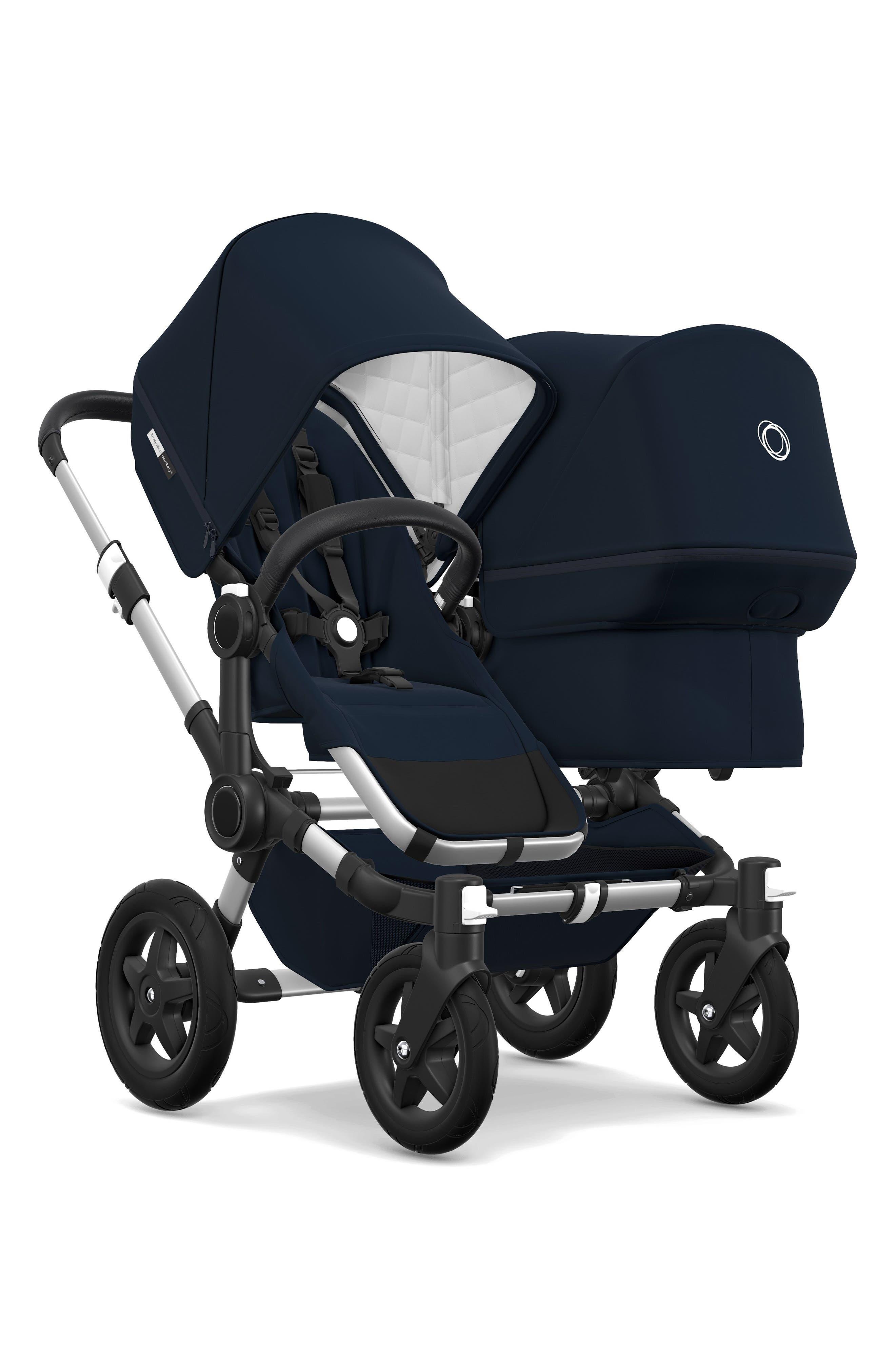 Frame Seat Extension for Donkey2 Stroller,                             Alternate thumbnail 2, color,                             Navy/ Aluminum