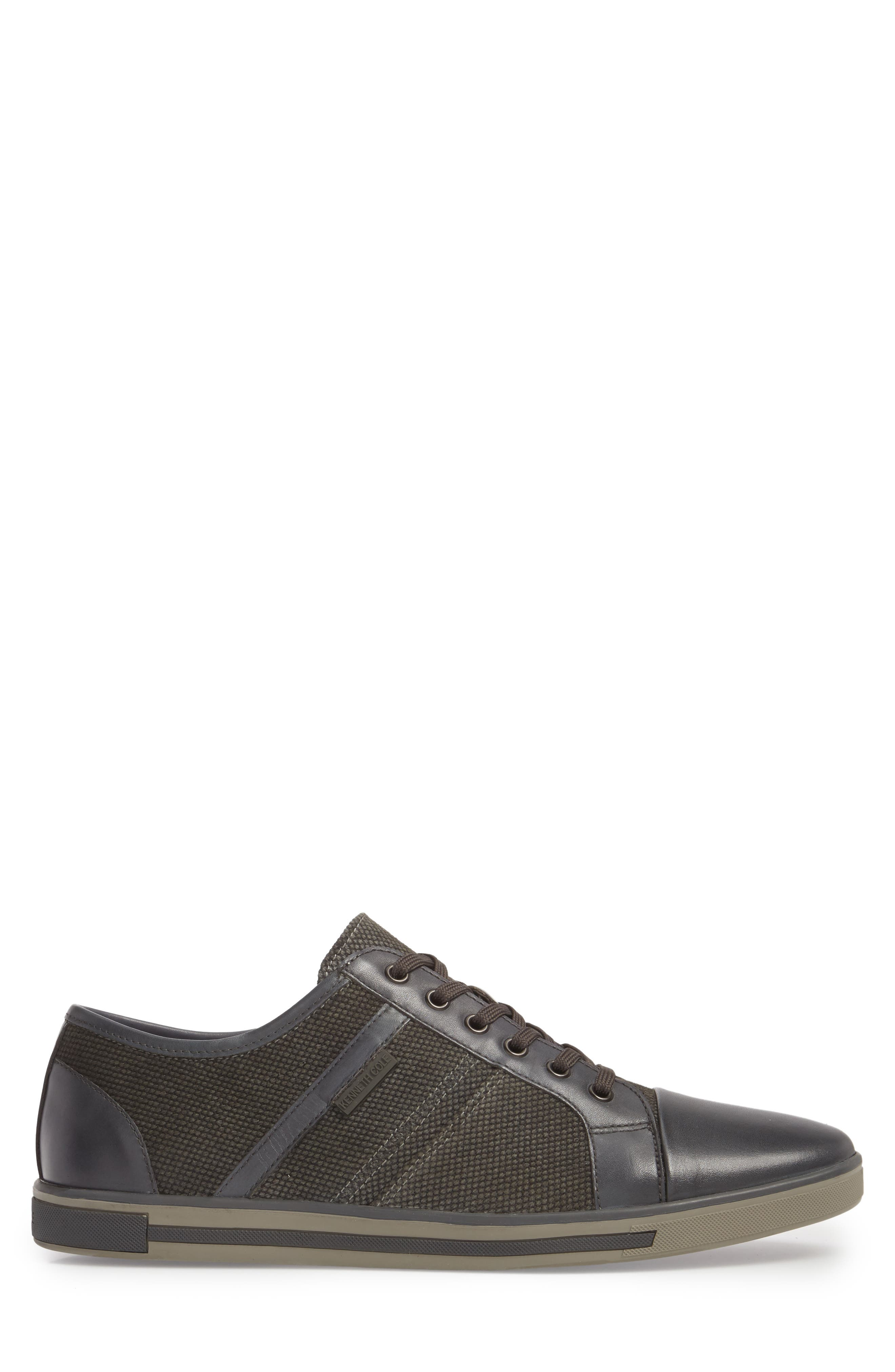 Initial Step Sneaker,                             Alternate thumbnail 3, color,                             Grey Leather/ Textile