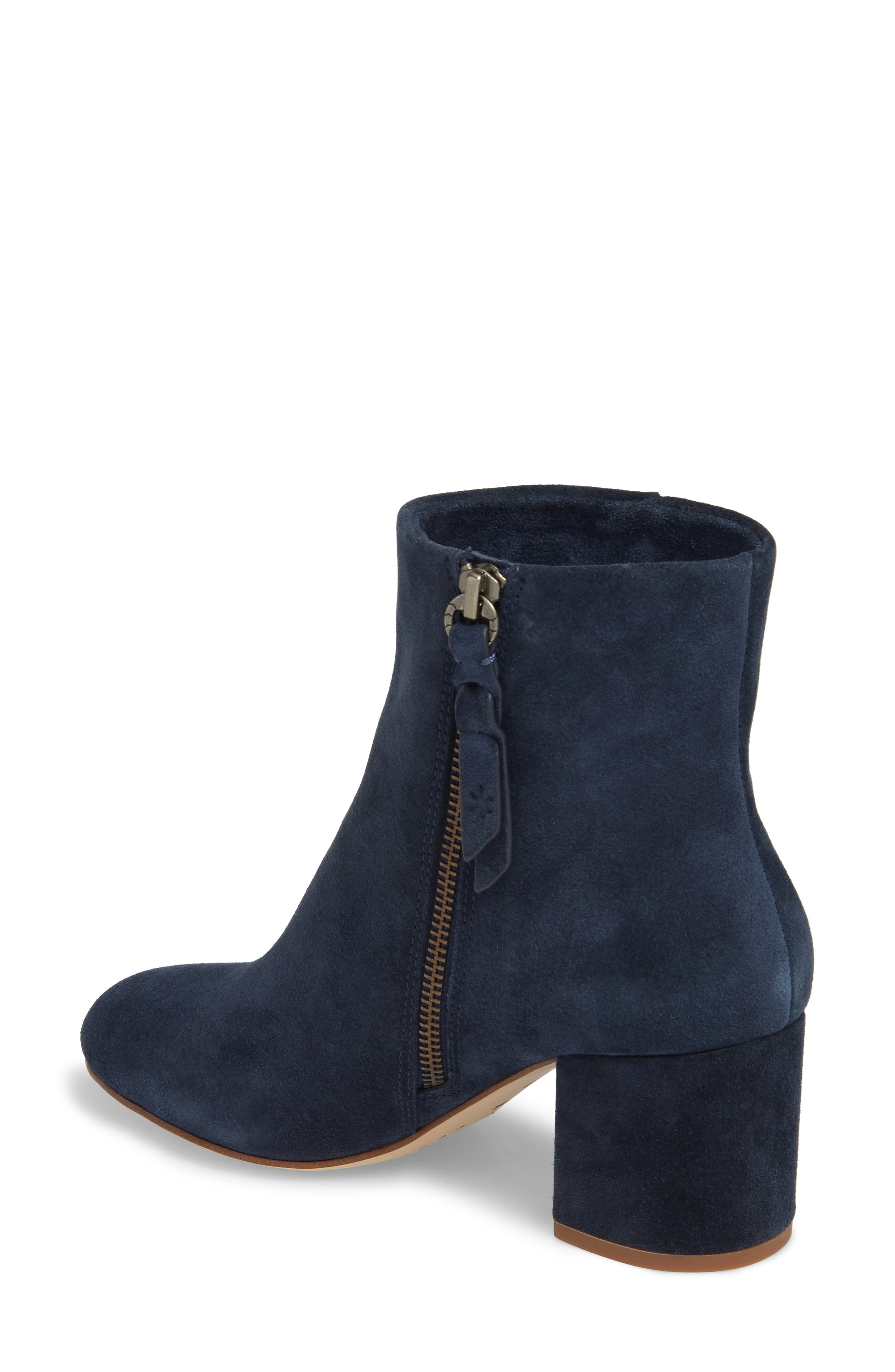 Nixie Bootie,                             Alternate thumbnail 2, color,                             Navy Suede