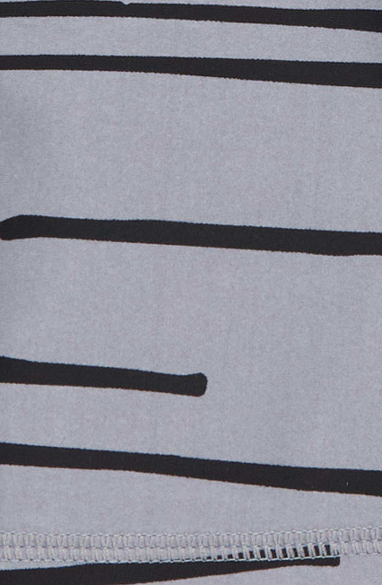 Tiger Stripe Rashguard & Board Shorts Set,                             Alternate thumbnail 2, color,                             Multi