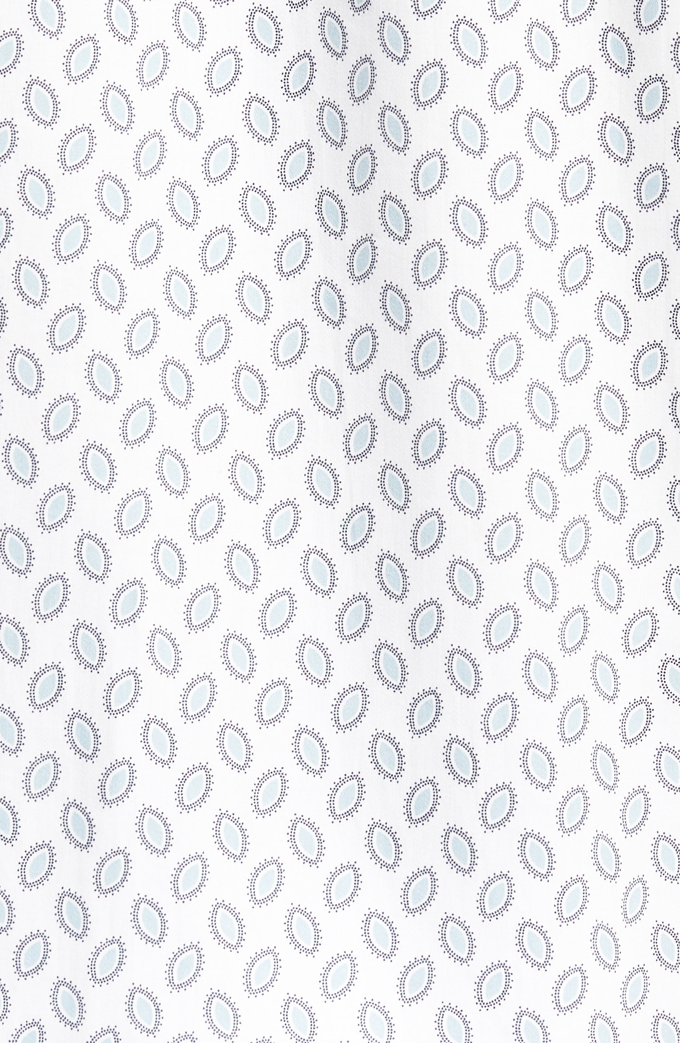 Newfone Trim Fit Chambray Sport Shirt,                             Alternate thumbnail 5, color,                             White