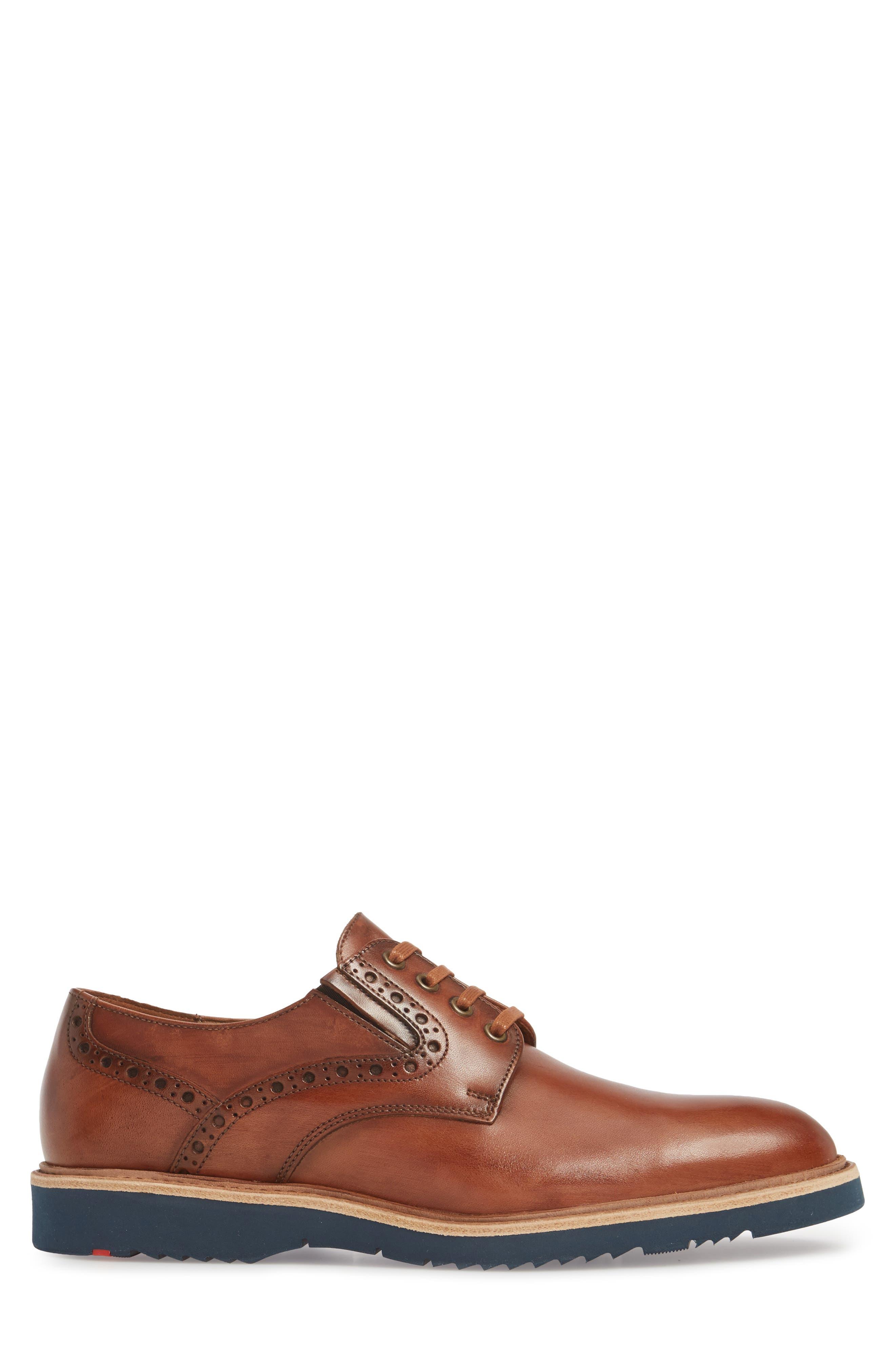 Kandy Plain Toe Derby,                             Alternate thumbnail 3, color,                             Cognac Leather