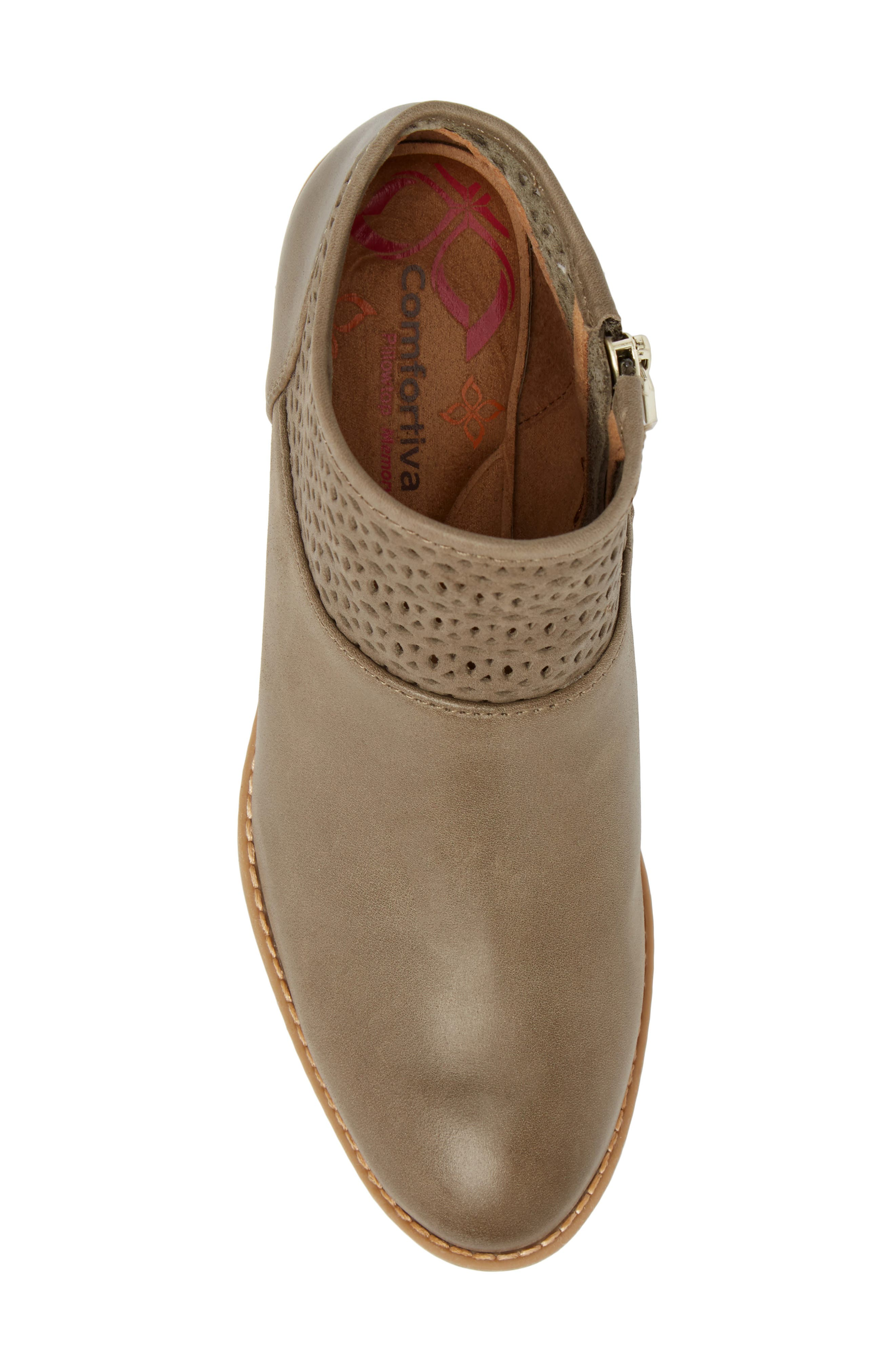 Caileen Bootie,                             Alternate thumbnail 5, color,                             Pale Olive