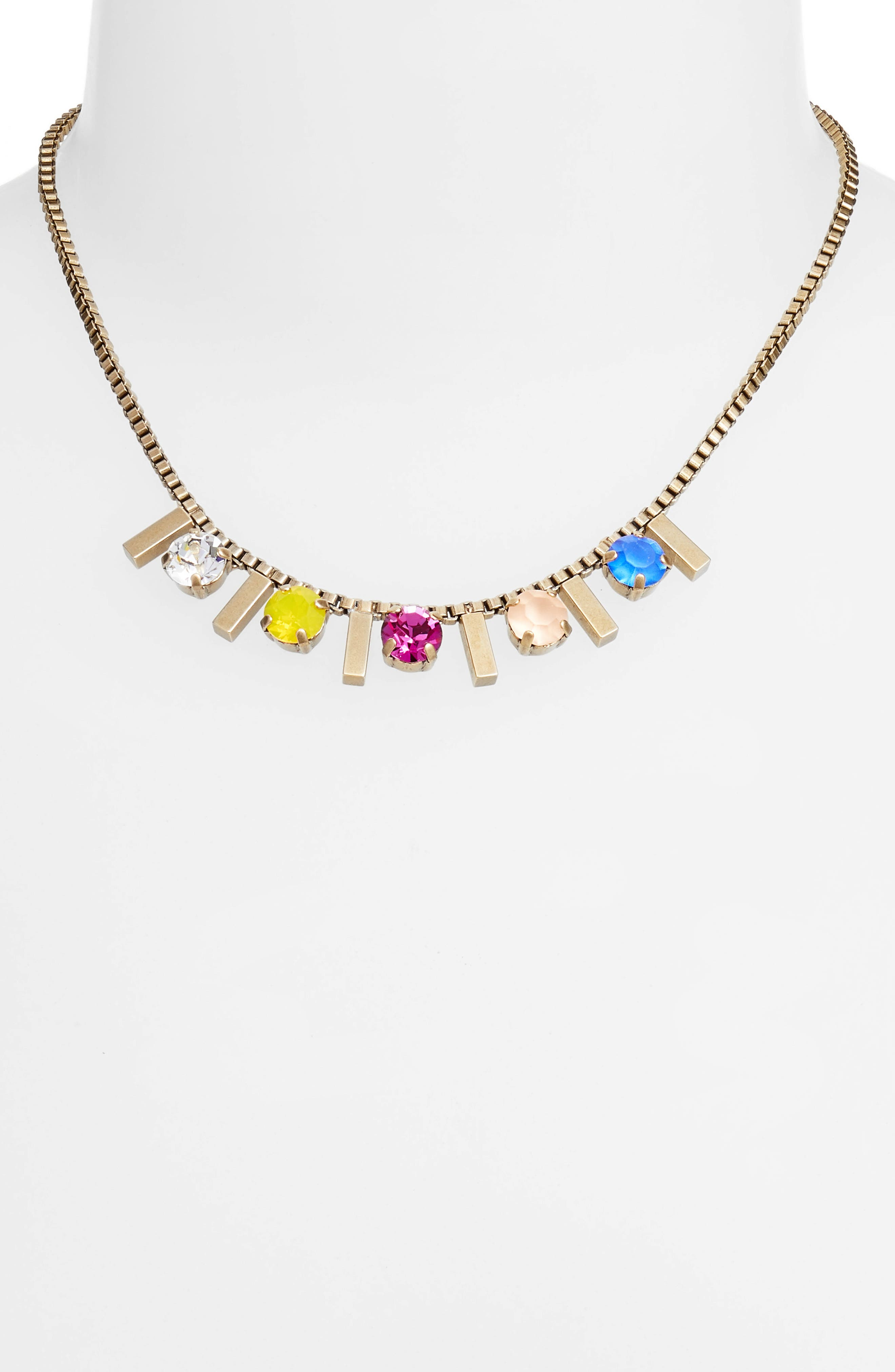 Juniper Box Chain Choker,                         Main,                         color, Gold Multi
