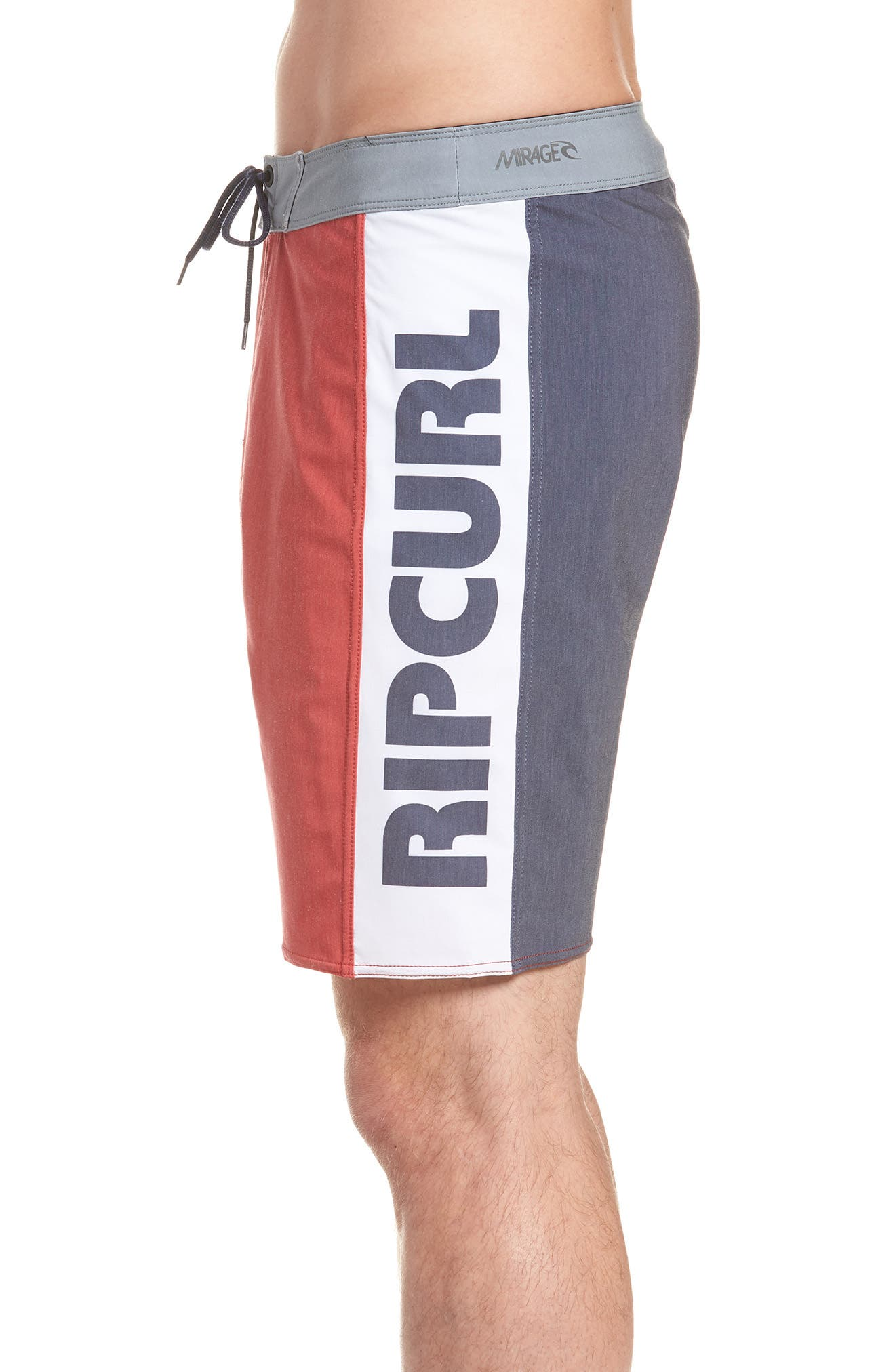 Mirage Owen Stretch Board Shorts,                             Alternate thumbnail 4, color,                             Red