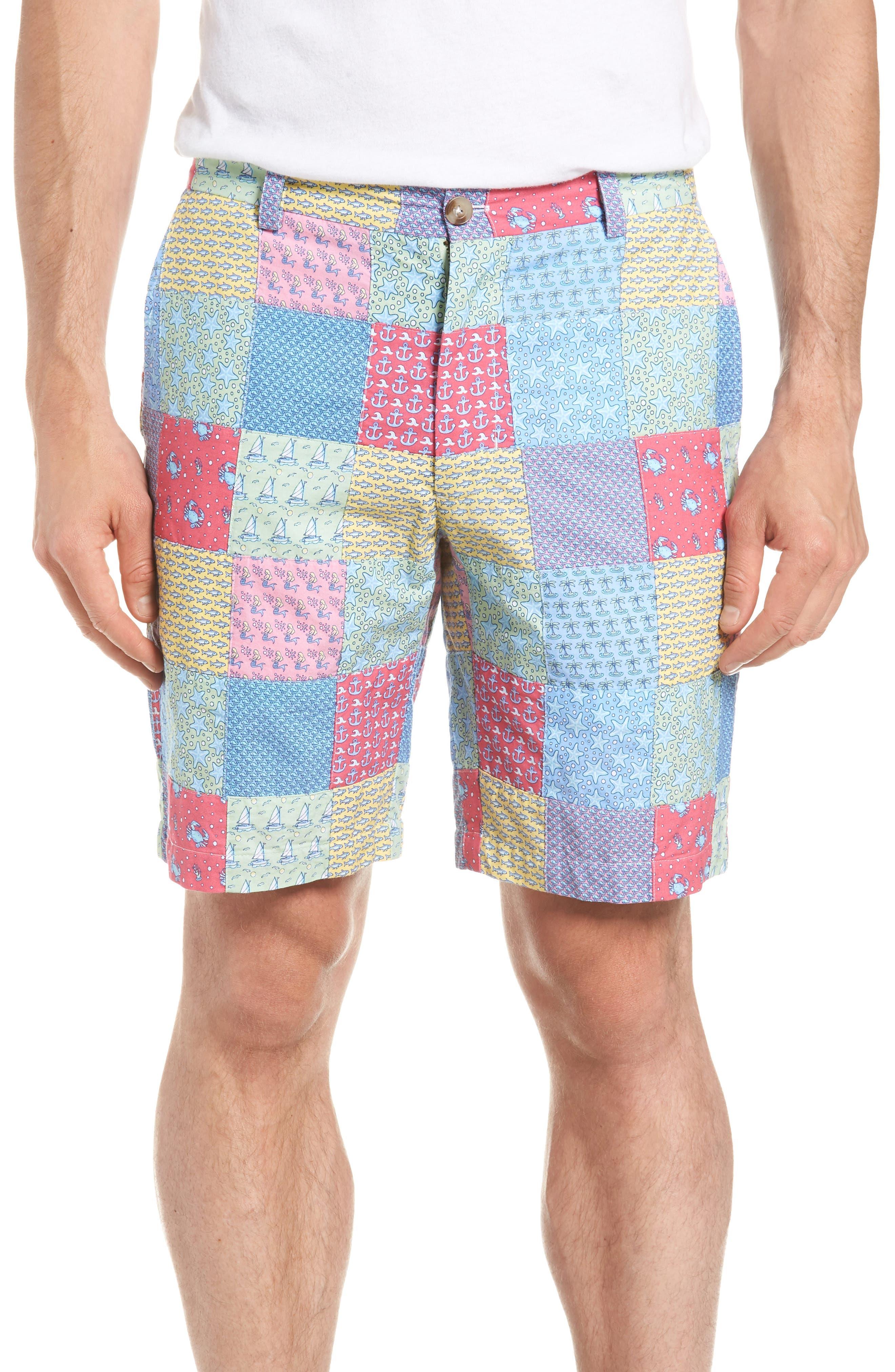 Patchwork Breaker Shorts,                         Main,                         color, Sailors Red