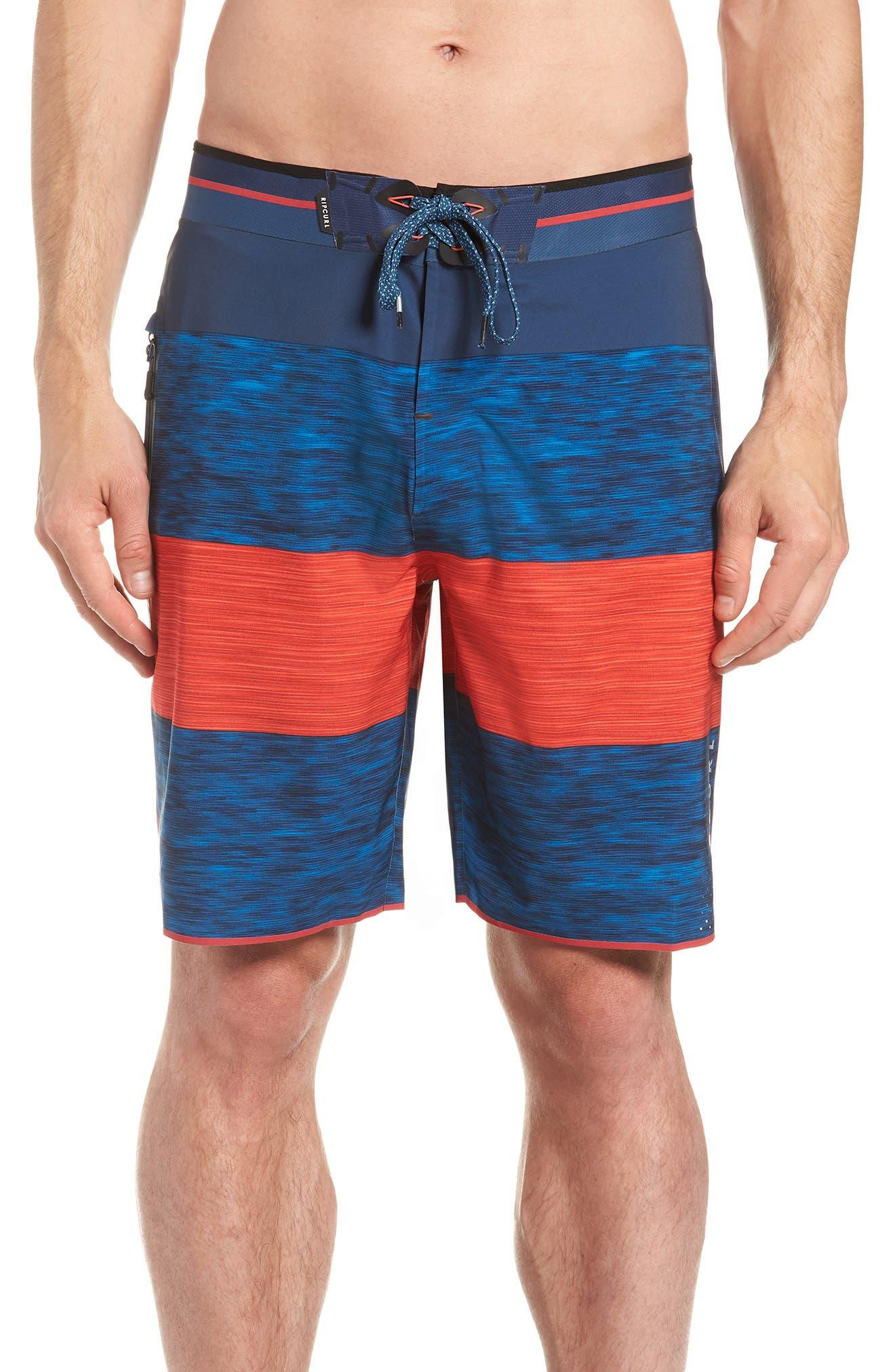 Mirage Bends Ultimate Board Shorts,                             Main thumbnail 1, color,                             Navy