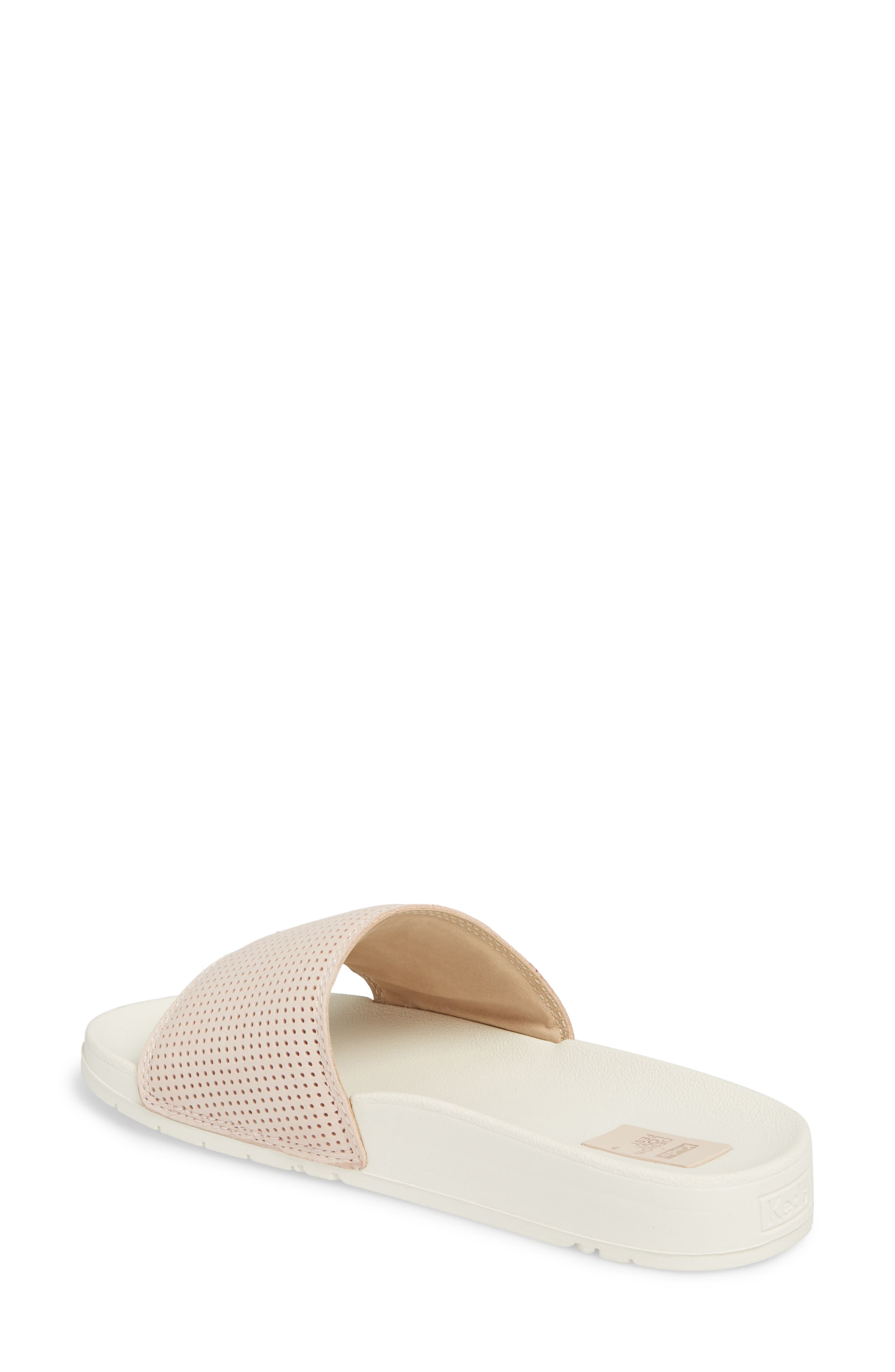 x Designlovefest Bliss Slide Sandal,                             Alternate thumbnail 2, color,                             Blush/ Cream