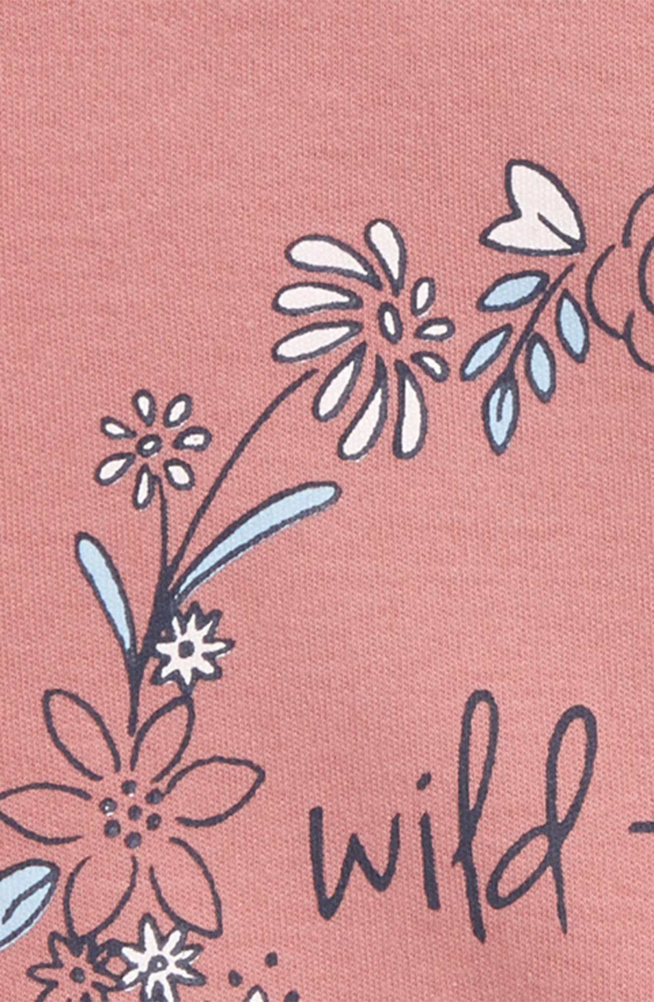 Wildflower Organic Cotton Tee,                             Alternate thumbnail 2, color,                             Pink