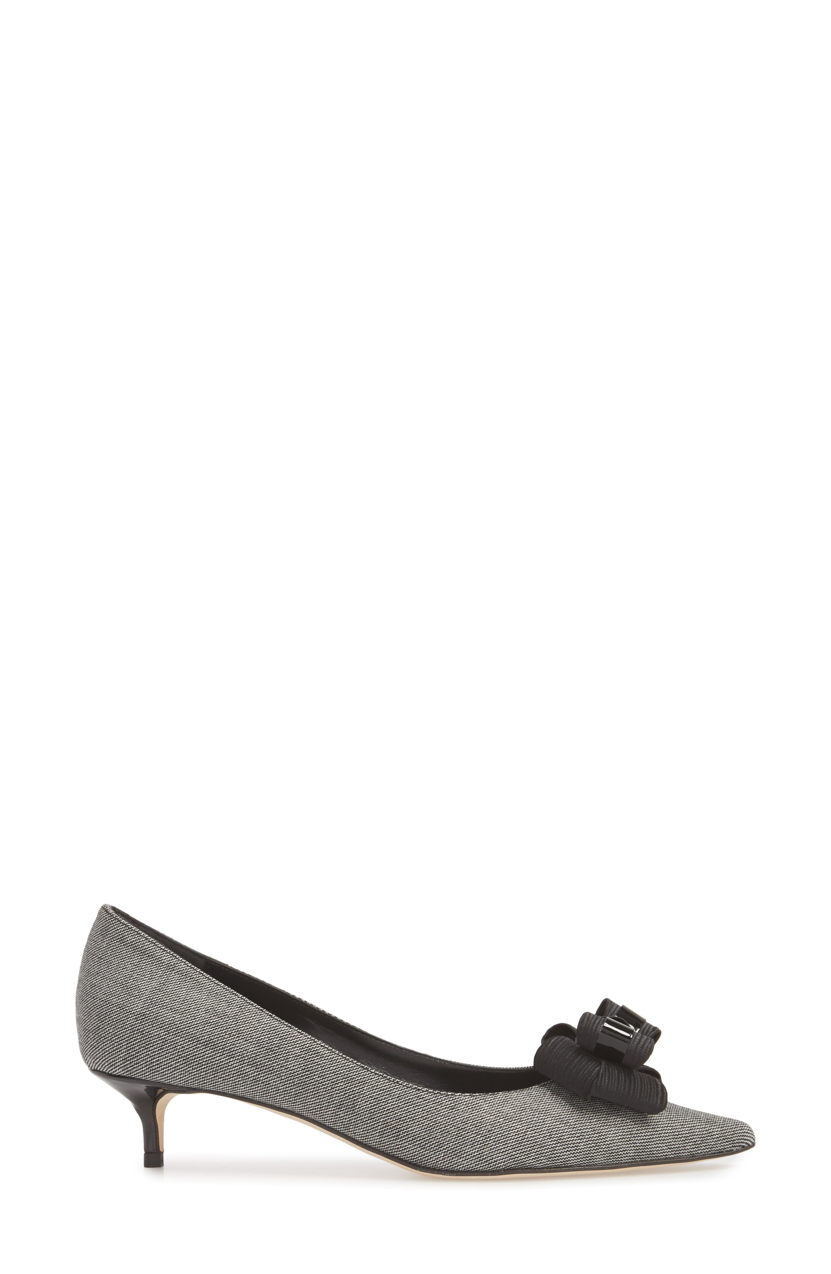 Butter Bentley Bow Pointy Toe Pump,                             Alternate thumbnail 3, color,                             Chatter Print
