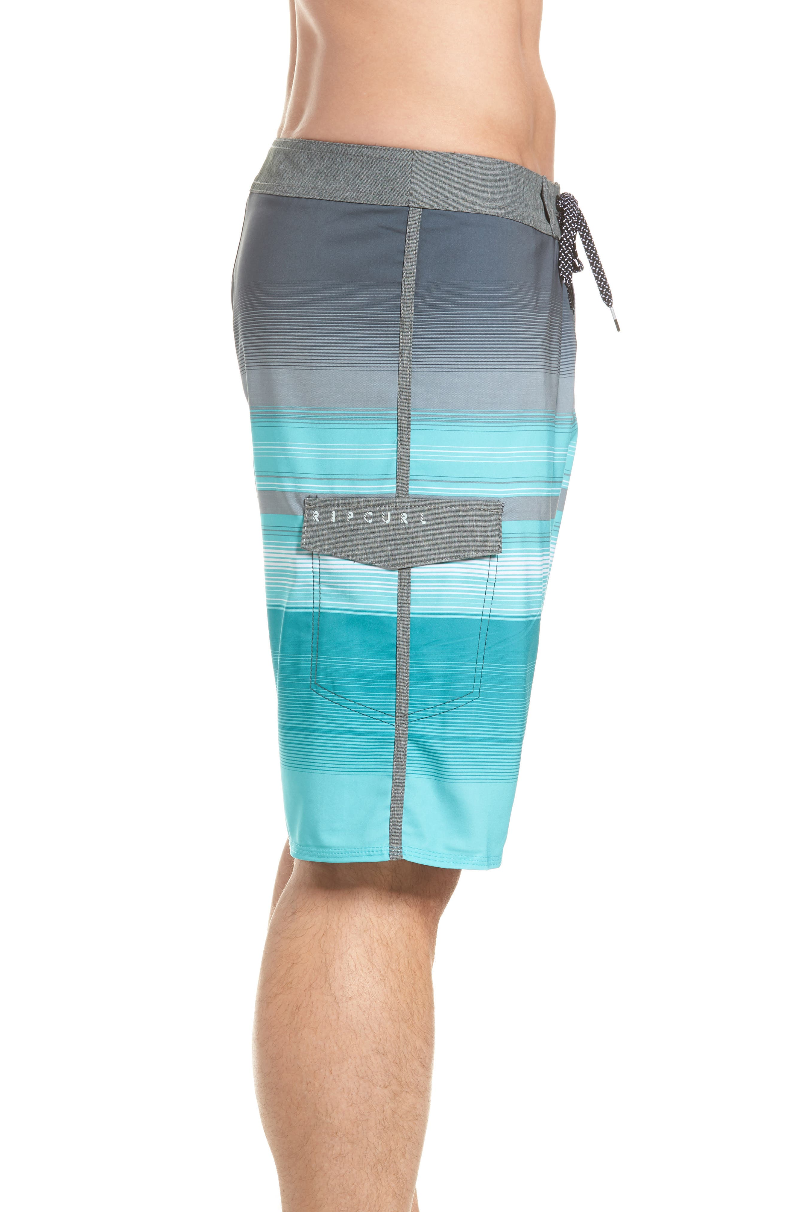 Mirage Accelerate Board Shorts,                             Alternate thumbnail 4, color,                             Teal
