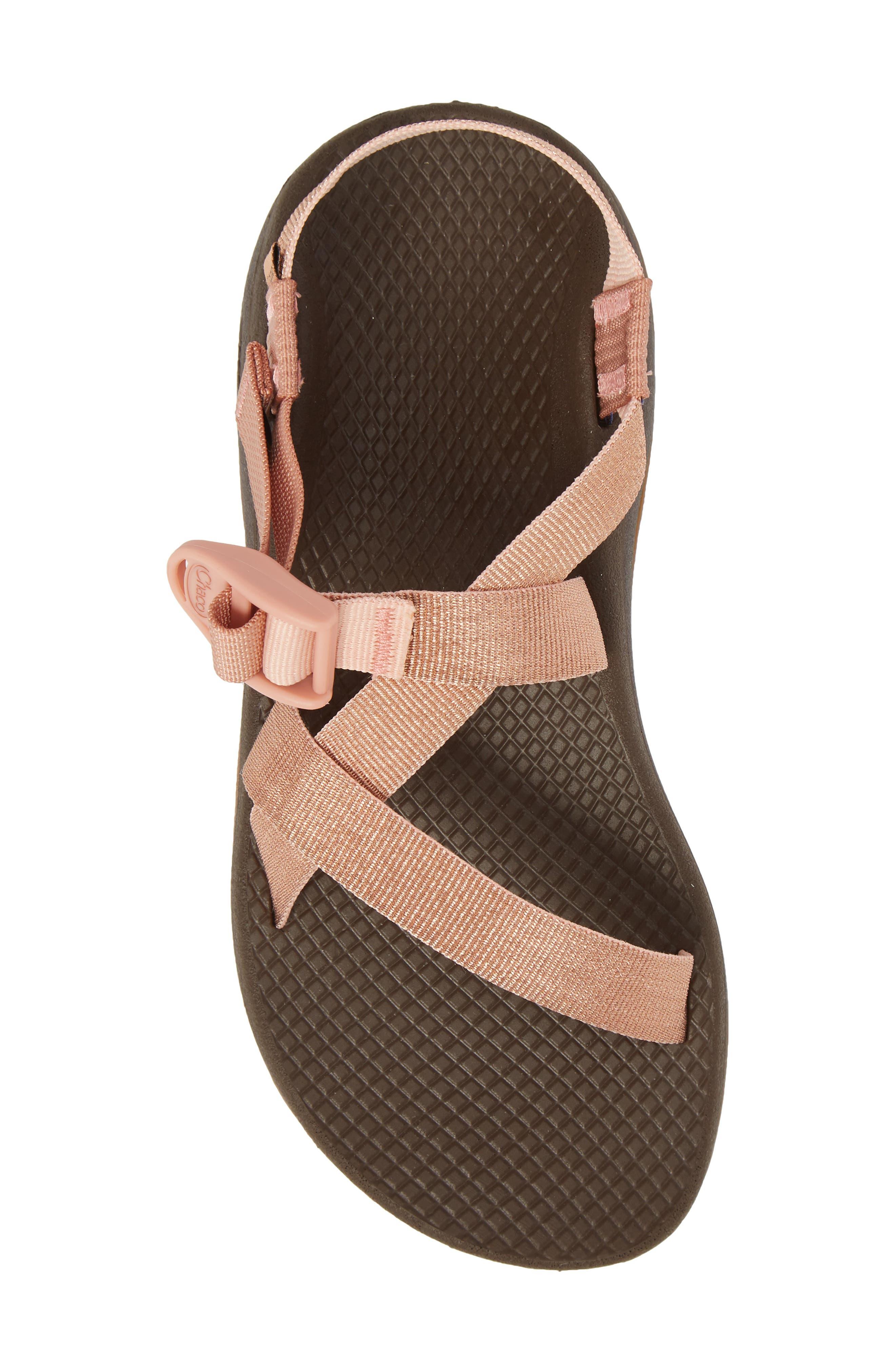 Z/Cloud Sandal,                             Alternate thumbnail 5, color,                             Metallic Rose Leather